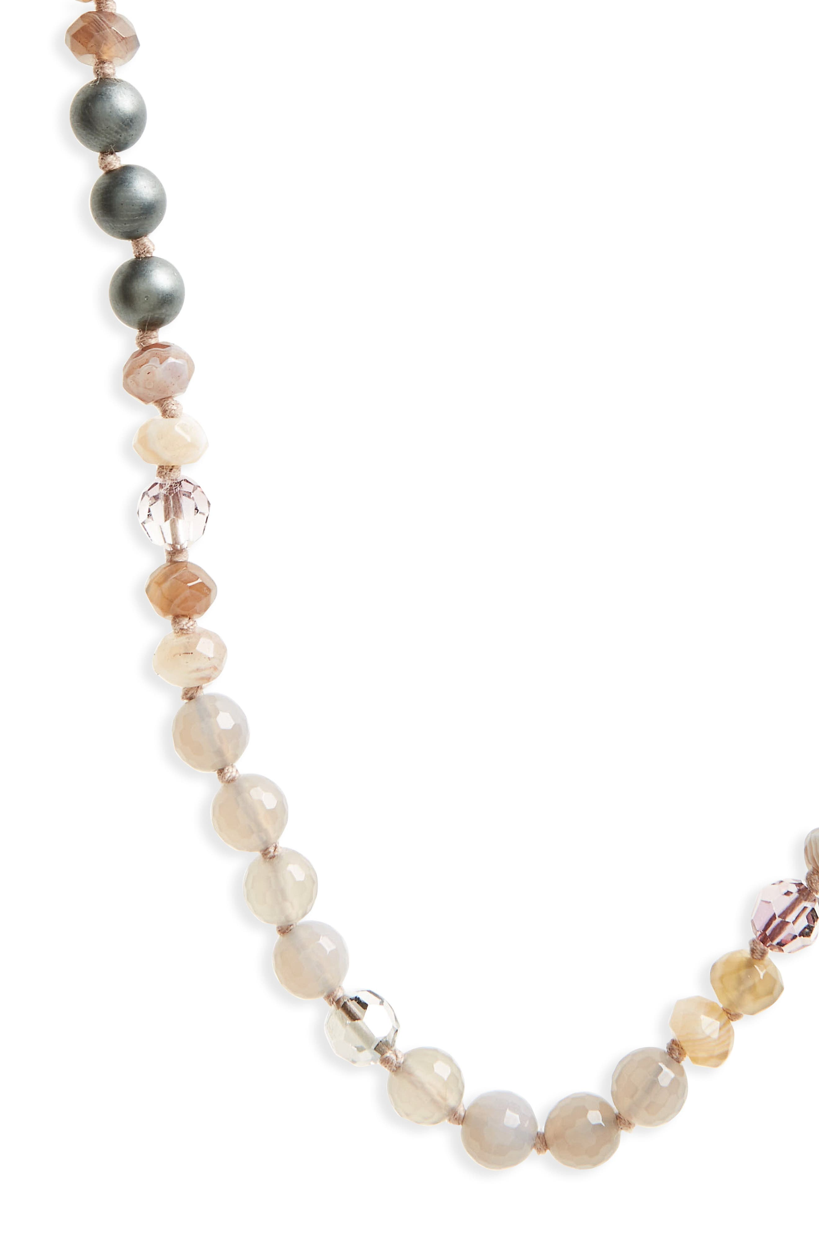 Semiprecious Stone & Crystal Necklace,                             Alternate thumbnail 3, color,