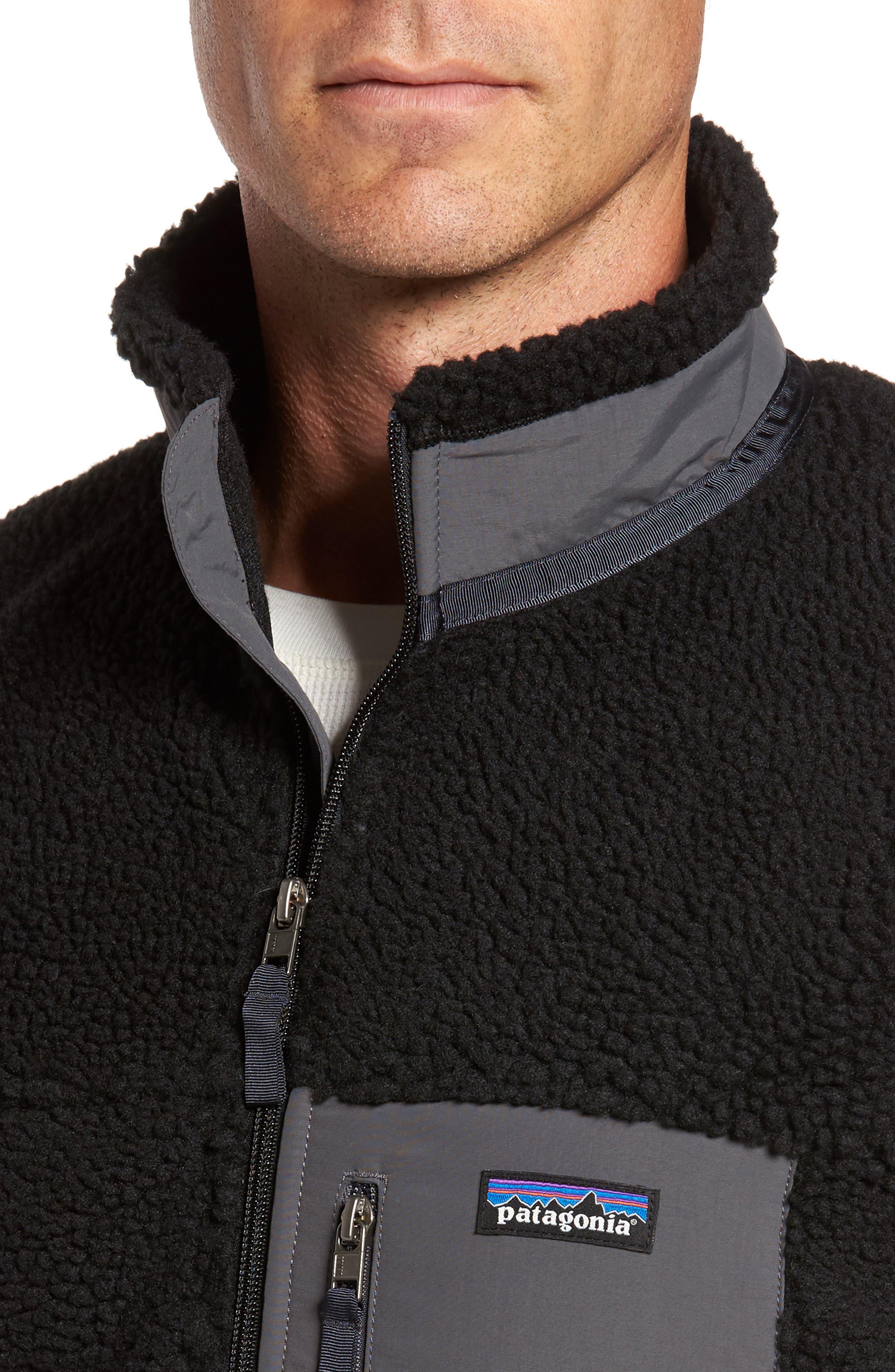 Retro-X Fleece Jacket,                             Alternate thumbnail 4, color,                             002