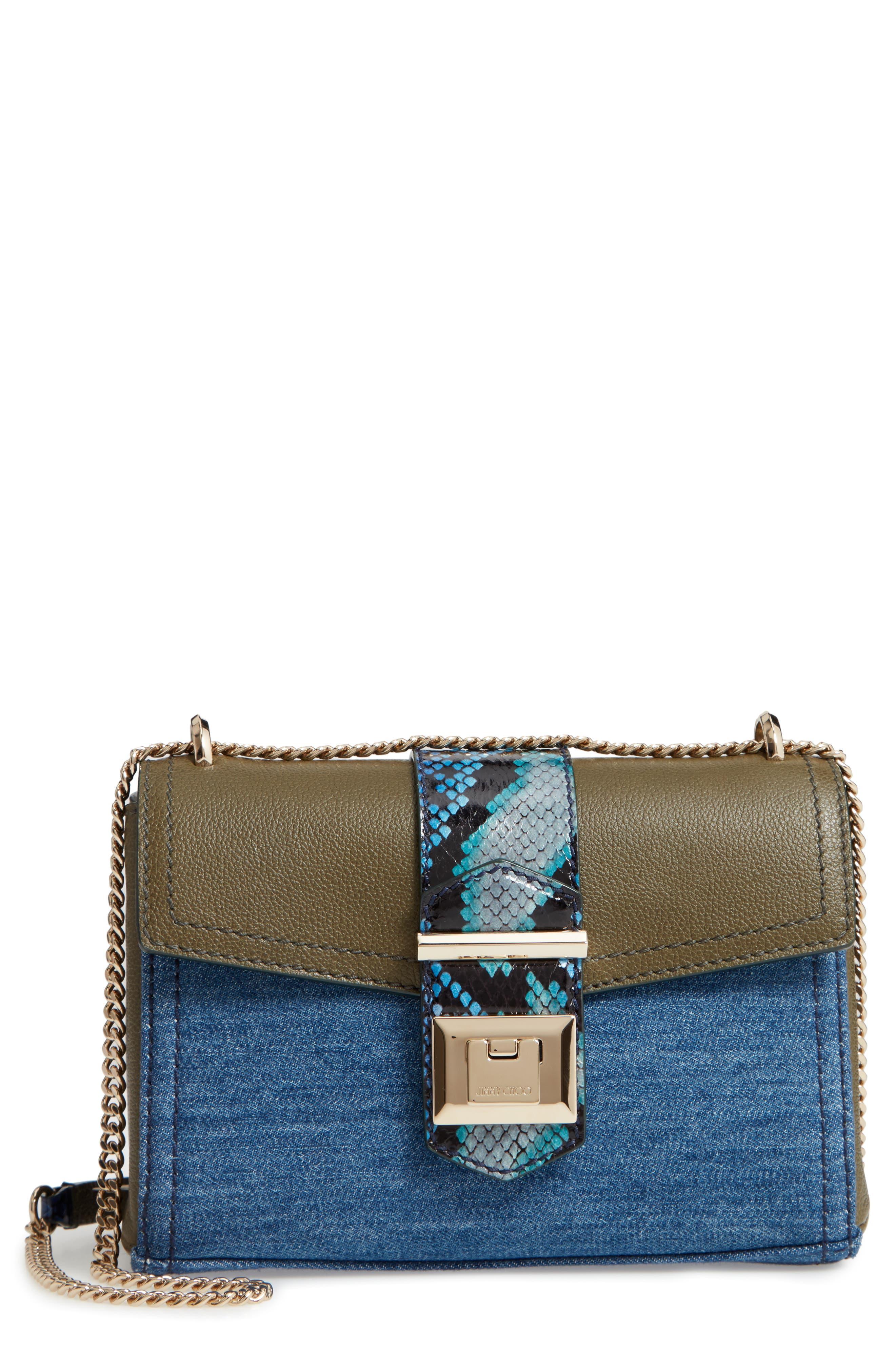 Marianne Leather & Genuine Snakeskin Crossbody Bag,                             Main thumbnail 1, color,                             NAVY MIX