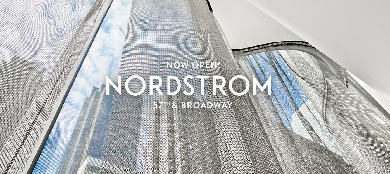 Nordstrom NYC opens October 24 at West 57th Street and Broadway.