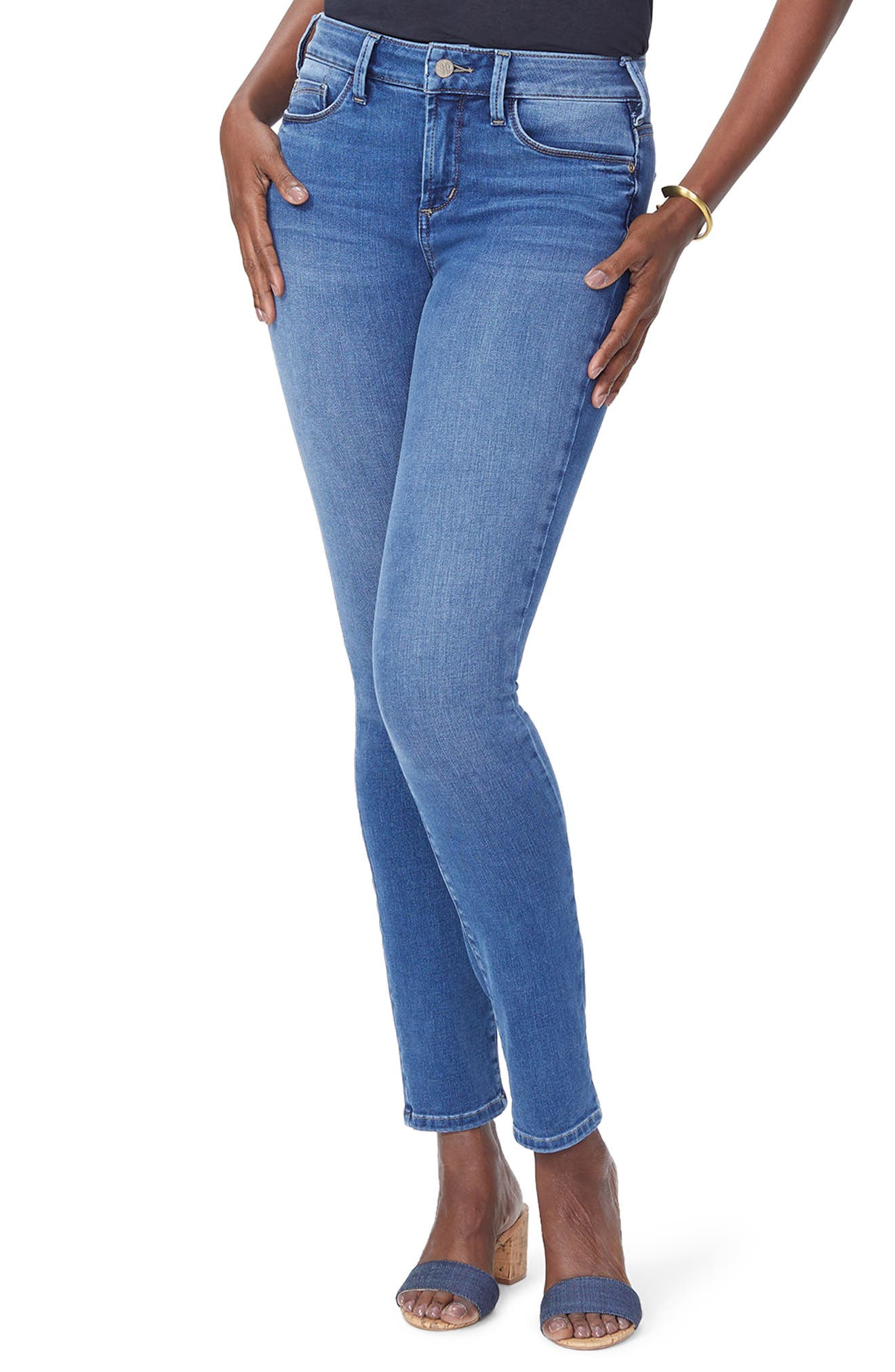 Alina High Waist Uplift Skinny Jeans,                         Main,                         color, 419