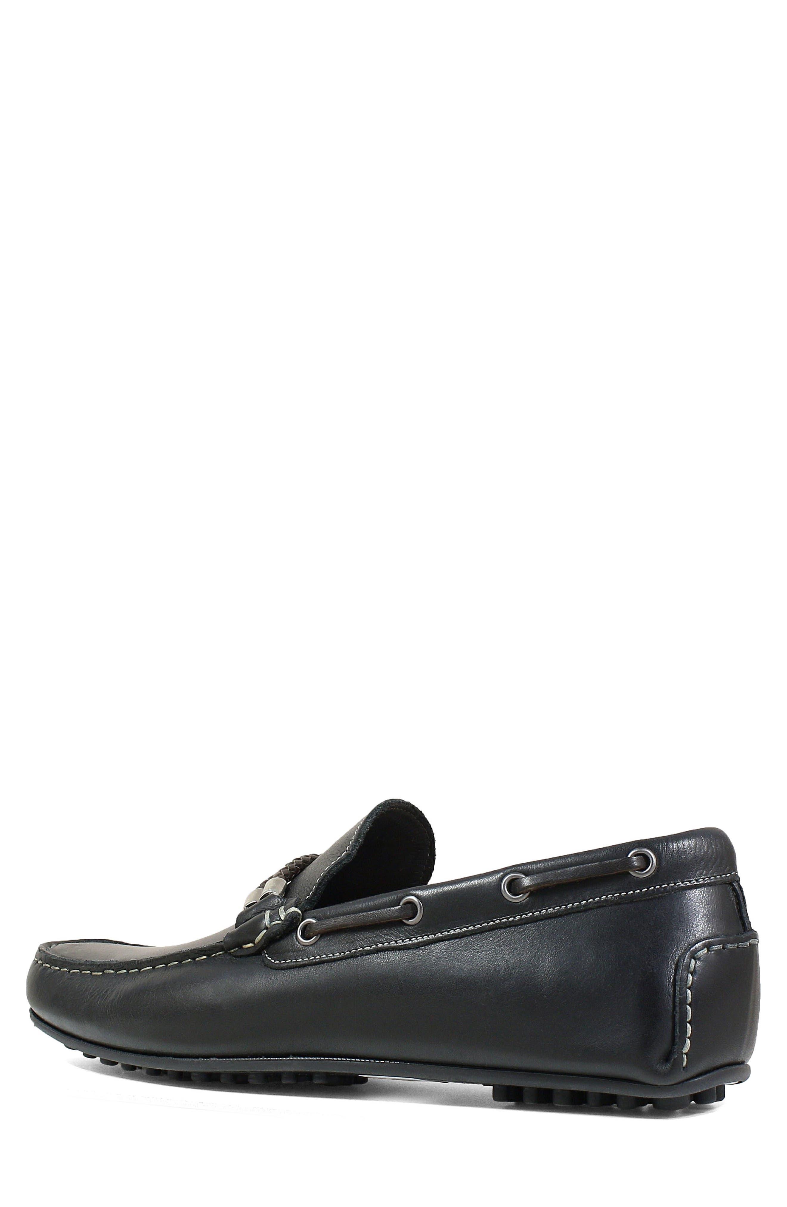 FLORSHEIM,                             Imperial Comet Driving Shoe,                             Alternate thumbnail 2, color,                             BLACK LEATHER