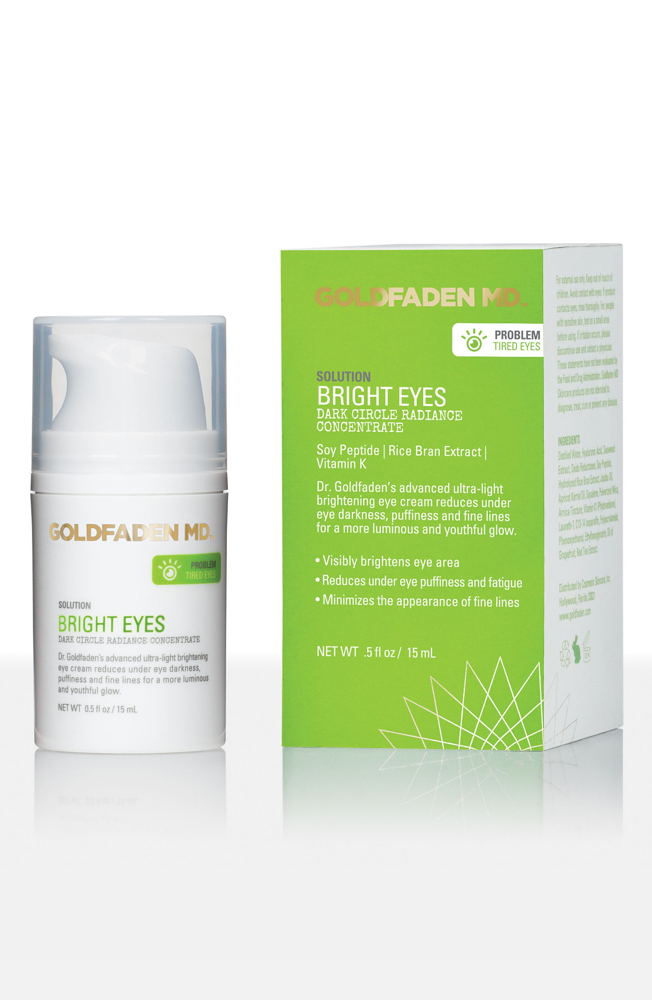 SPACE.NK.apothecary Goldfaden MD Bright Eyes Dark Circle Radiance Concentrate,                             Main thumbnail 1, color,                             000