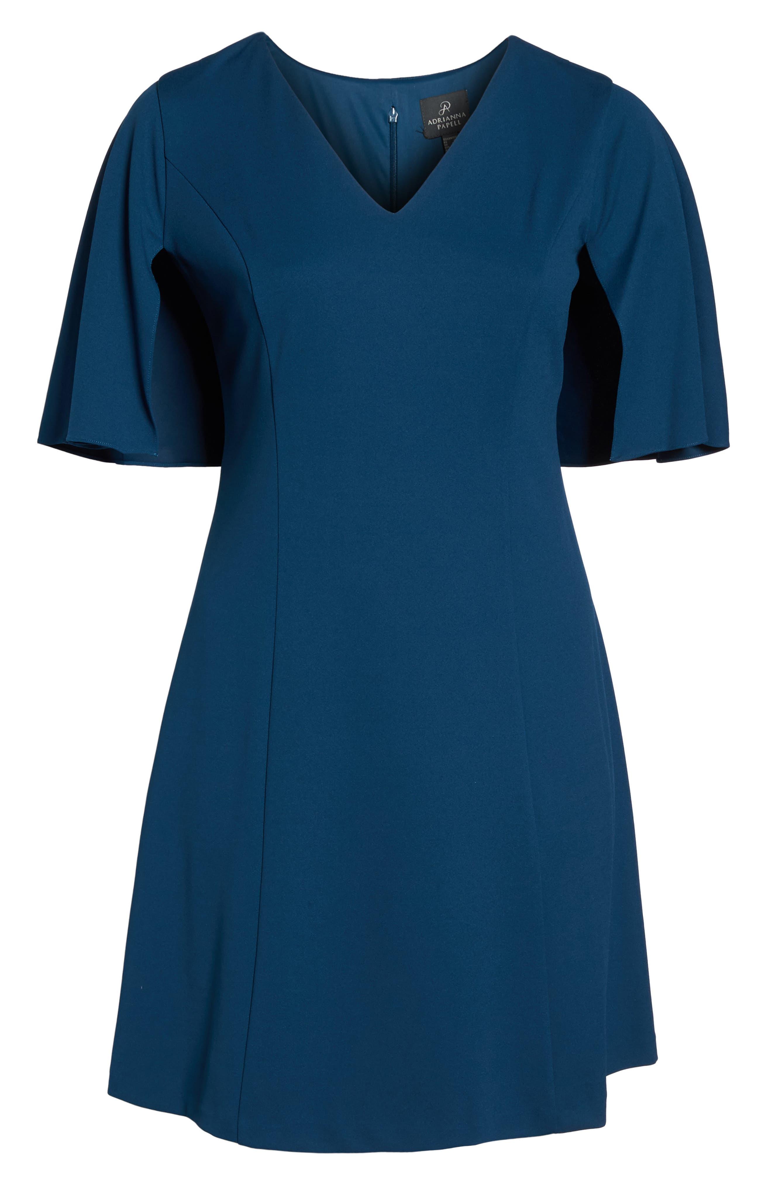 Capelet A-Line Dress,                             Alternate thumbnail 6, color,                             471
