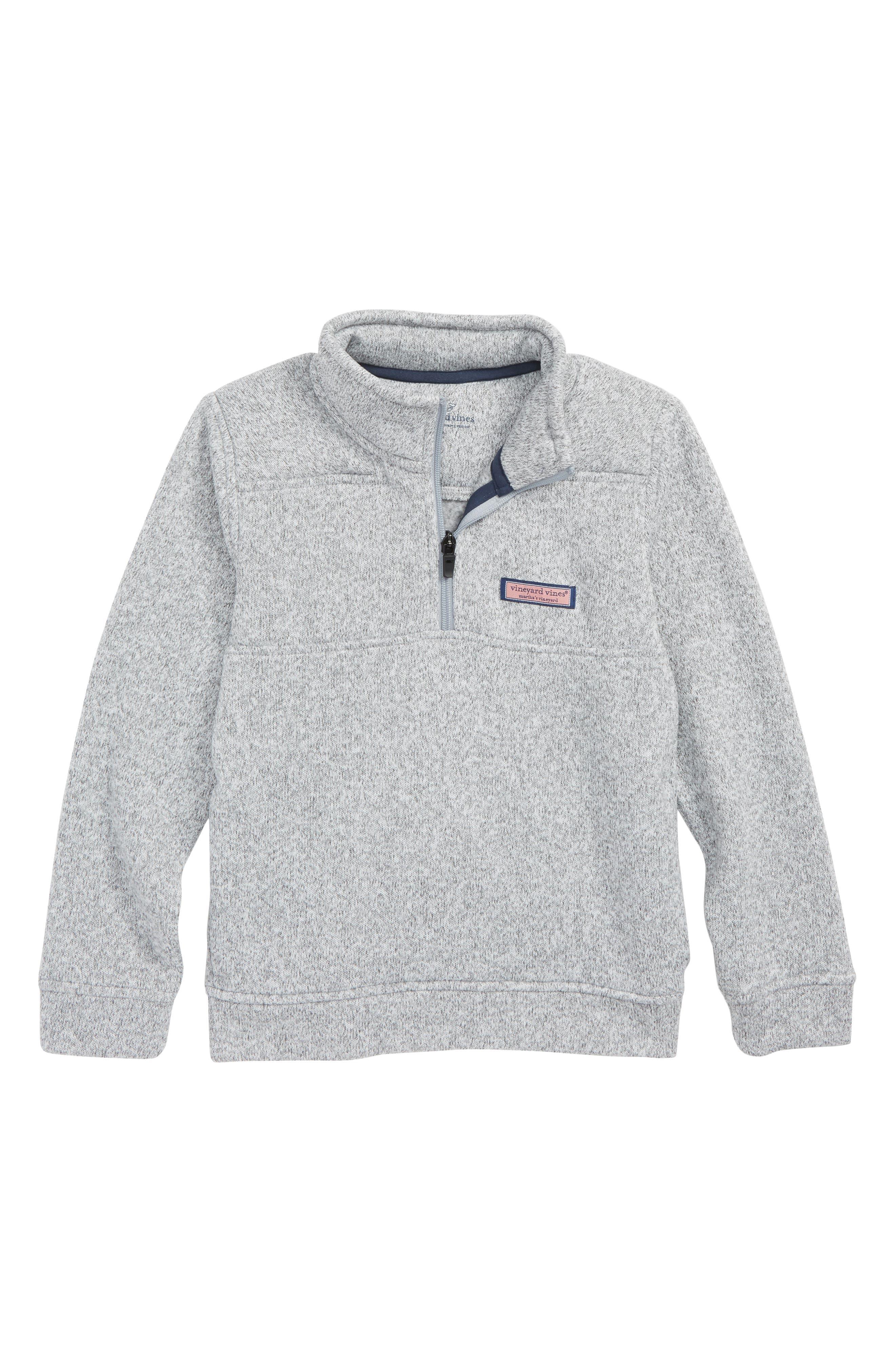 Fleece Shep Sweatshirt,                         Main,                         color, GRAY HEATHER