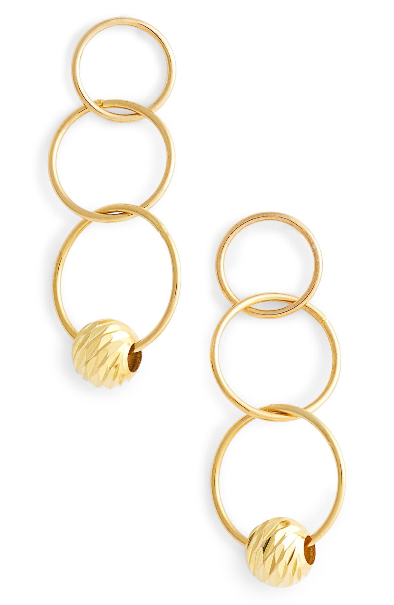 Triple Drop Earrings,                             Main thumbnail 2, color,