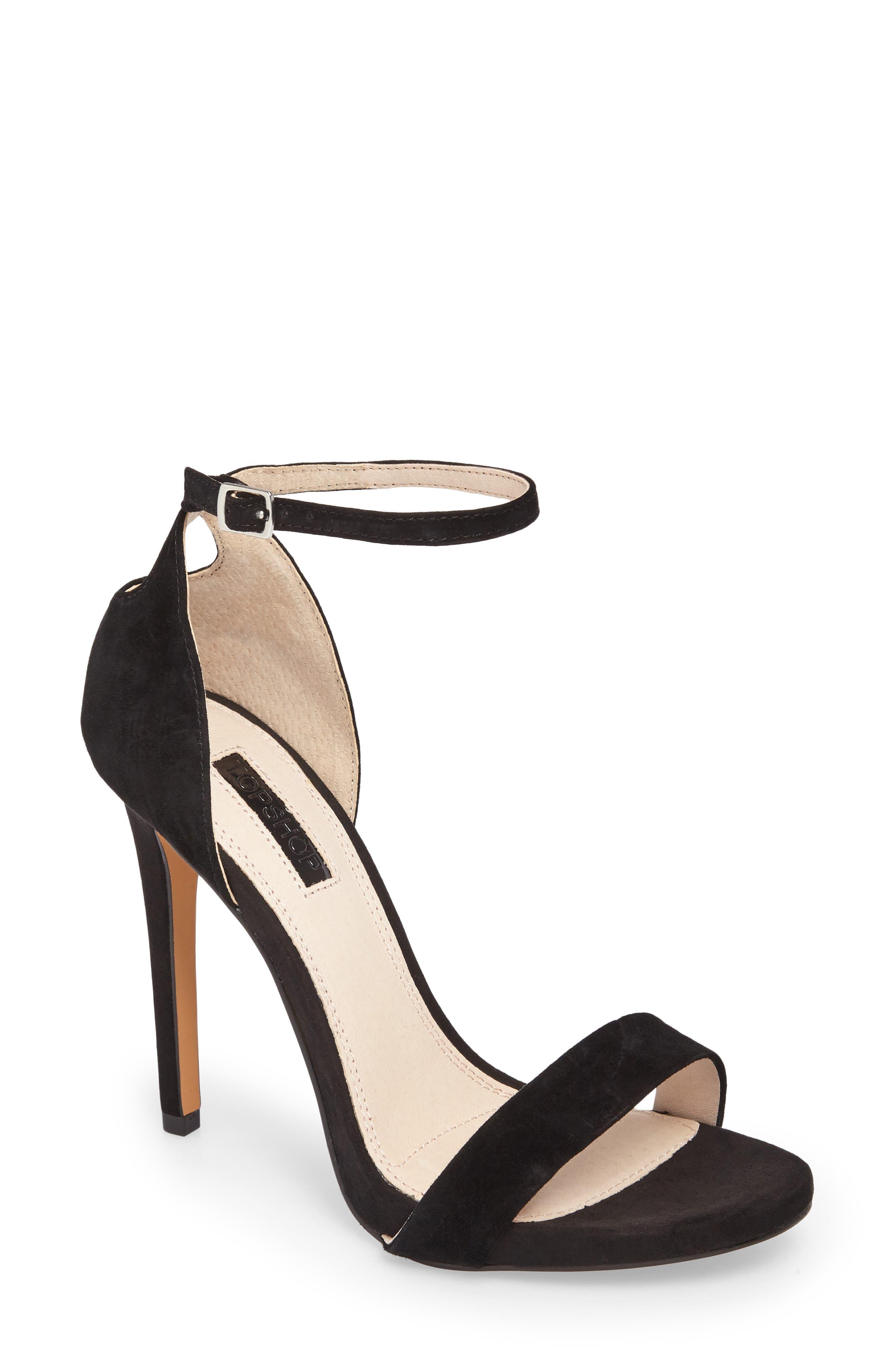 Raphie Ankle Strap Sandal,                             Main thumbnail 1, color,                             001