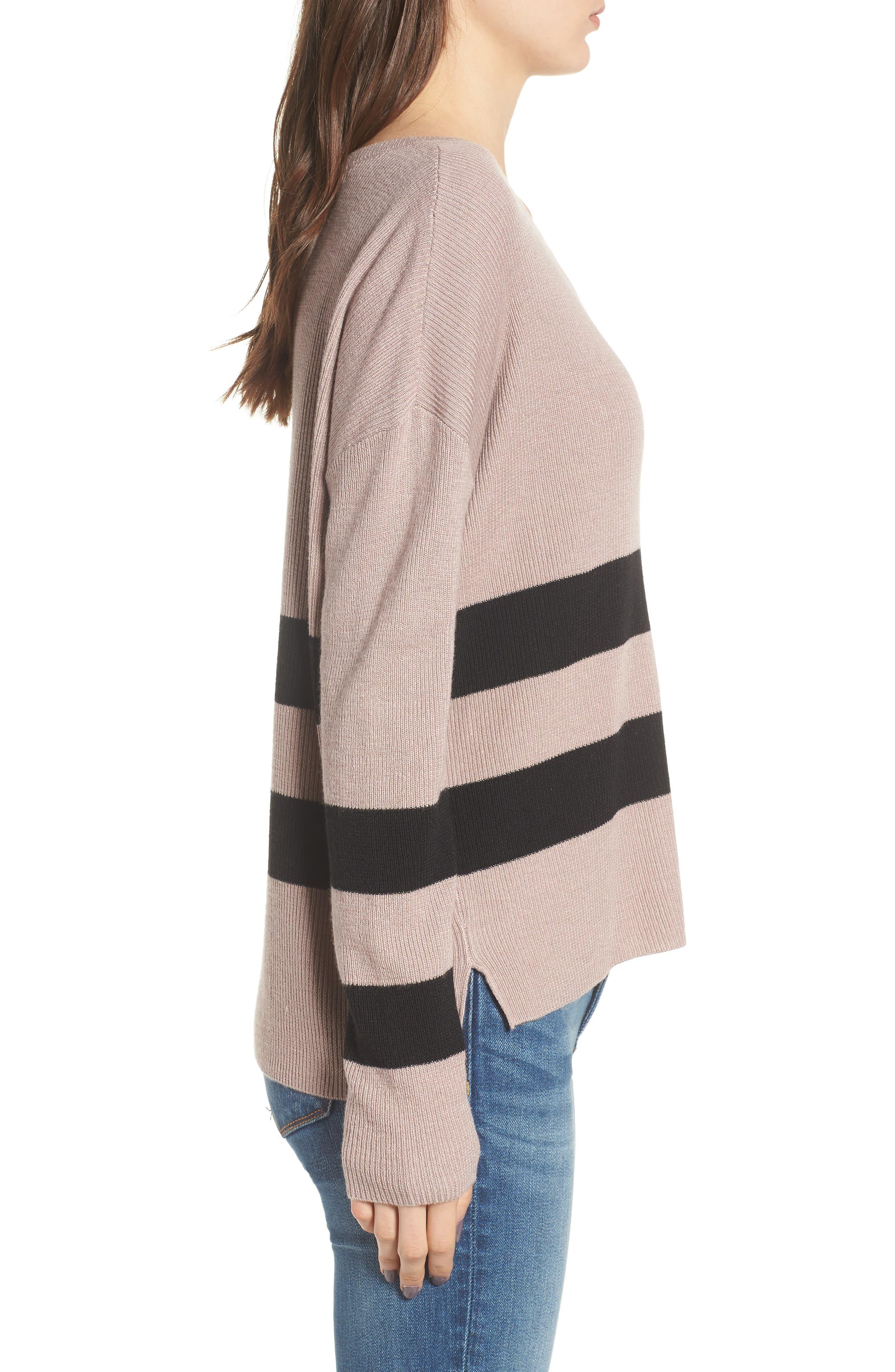Varsity Stripe Sweater,                             Alternate thumbnail 3, color,                             030