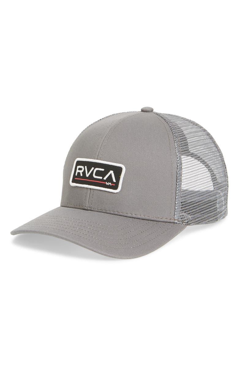 1254c72be7a Rvca Ticket Ii Trucker Hat - Grey