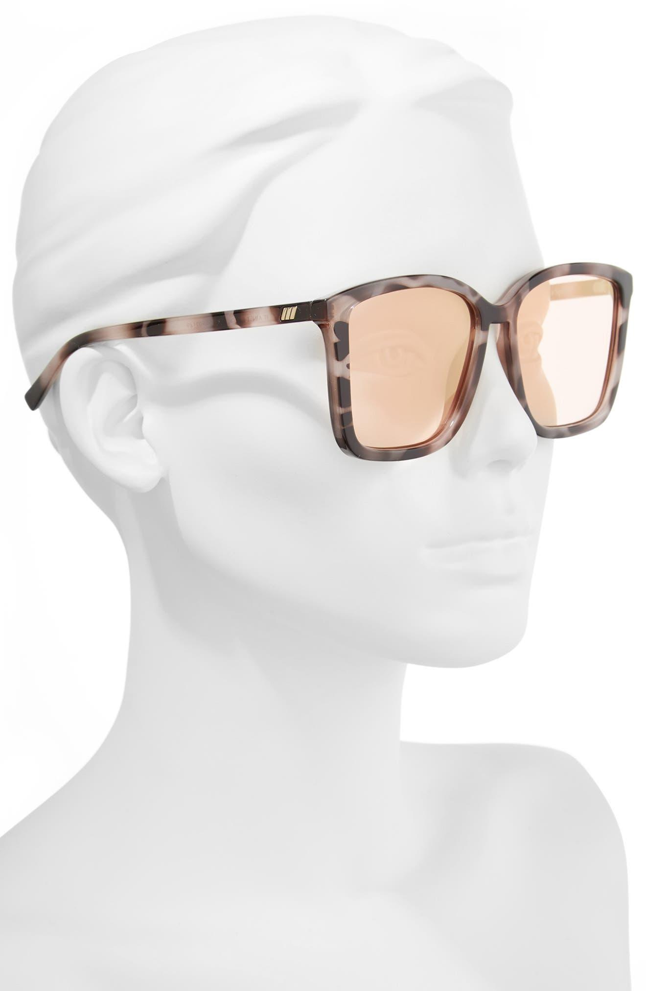 It Ain't Baroque 55mm Sunglasses,                             Alternate thumbnail 2, color,                             APRICOT TORT
