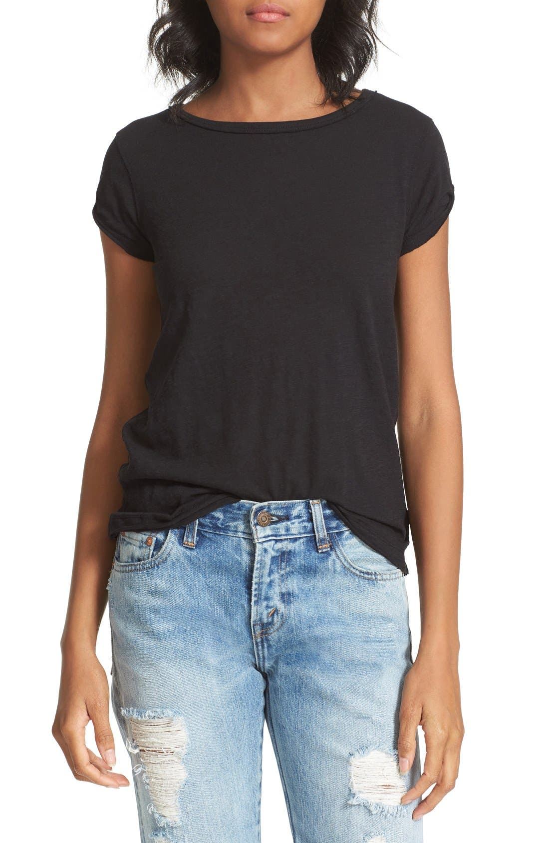 We the Free by Free People Tee,                             Main thumbnail 1, color,                             BLACK