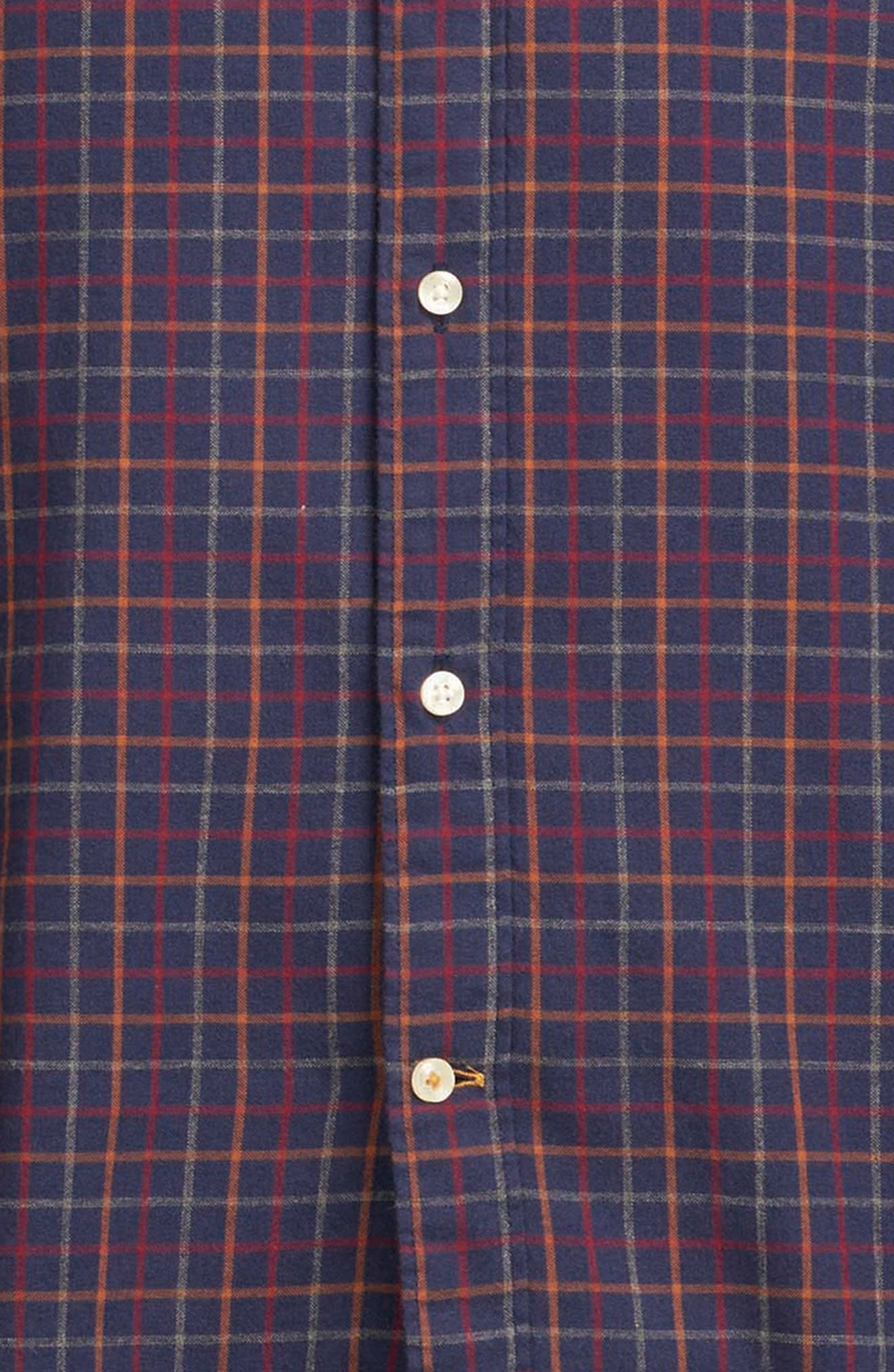 Endsleigh Tattersall Cotton Flannel Shirt,                             Alternate thumbnail 6, color,                             410