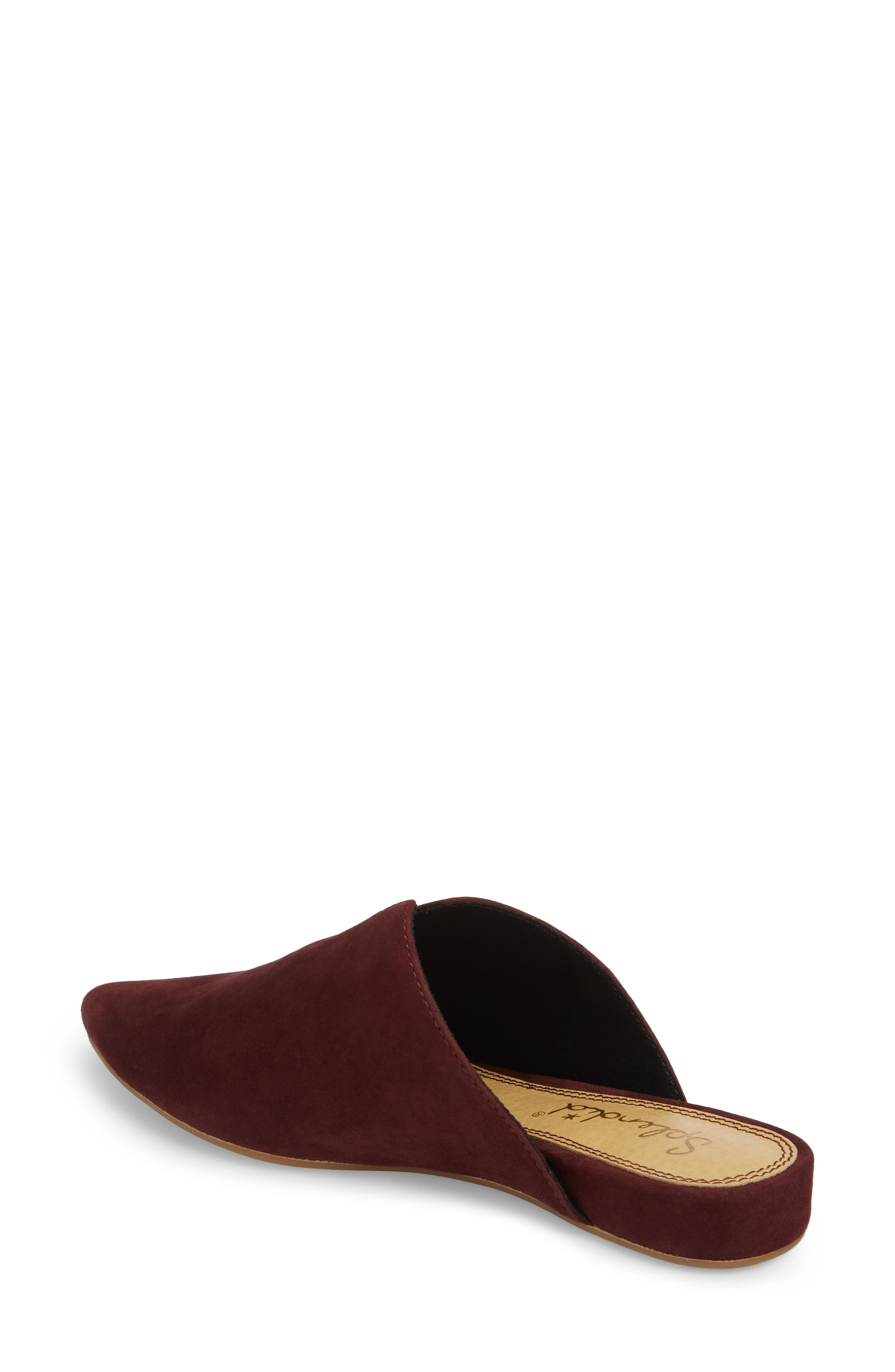 Nieves Mule,                             Alternate thumbnail 2, color,                             DEEP PLUM SUEDE