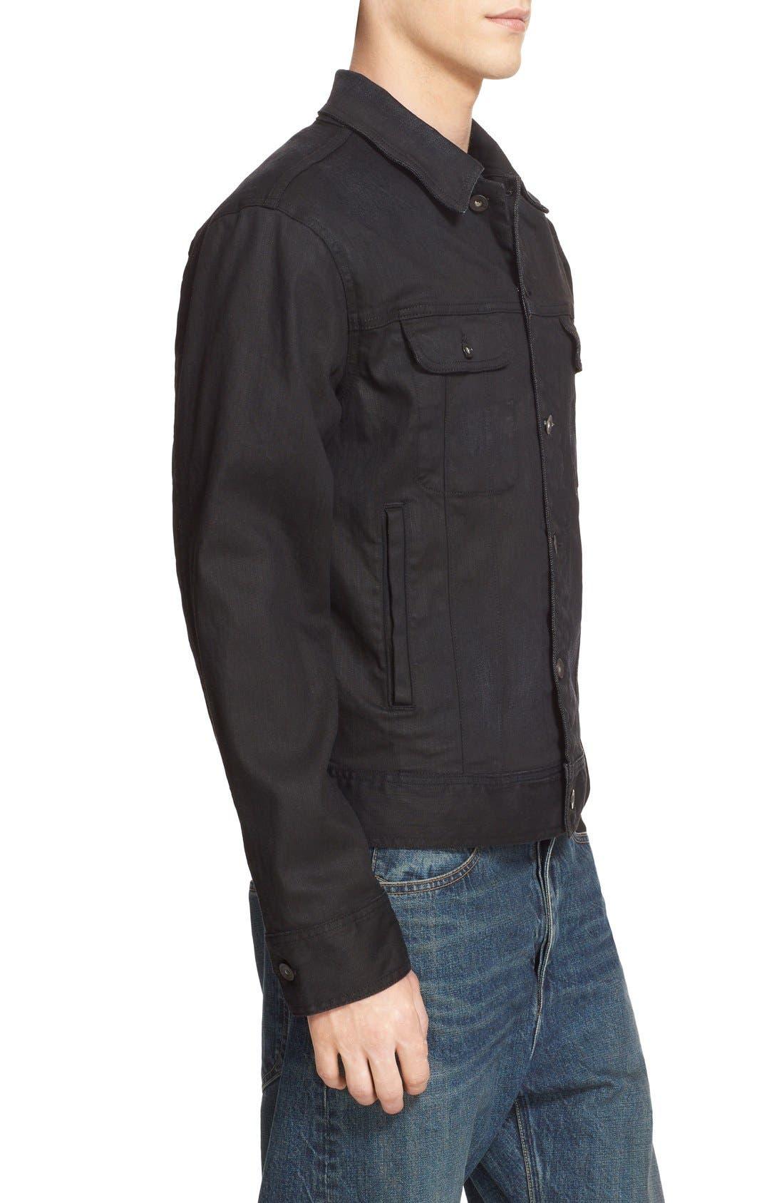 Denim Jacket,                             Alternate thumbnail 3, color,                             001