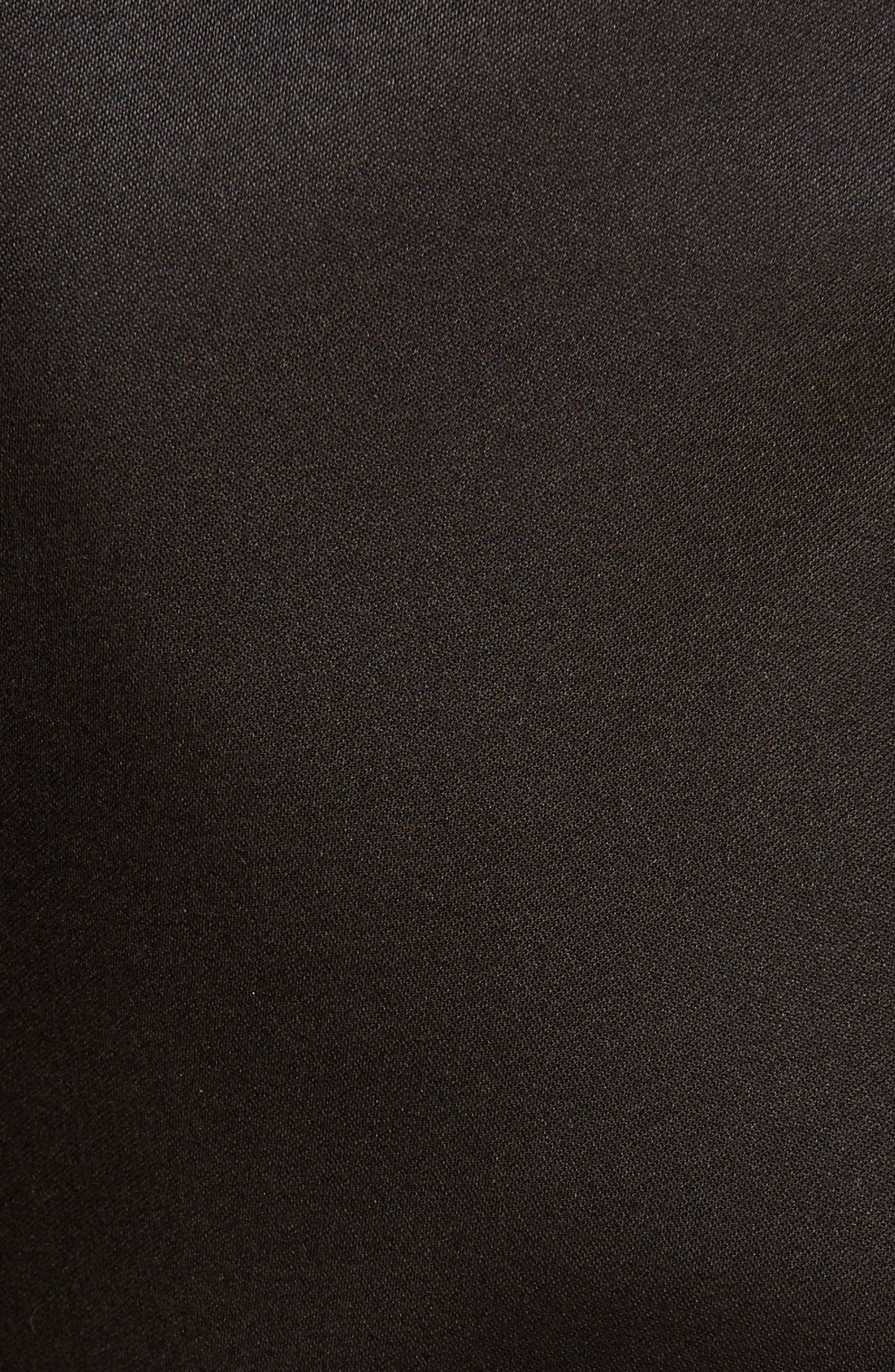 Side Scarf Peplum Satin Shorts,                             Alternate thumbnail 5, color,                             1000 - BLACK