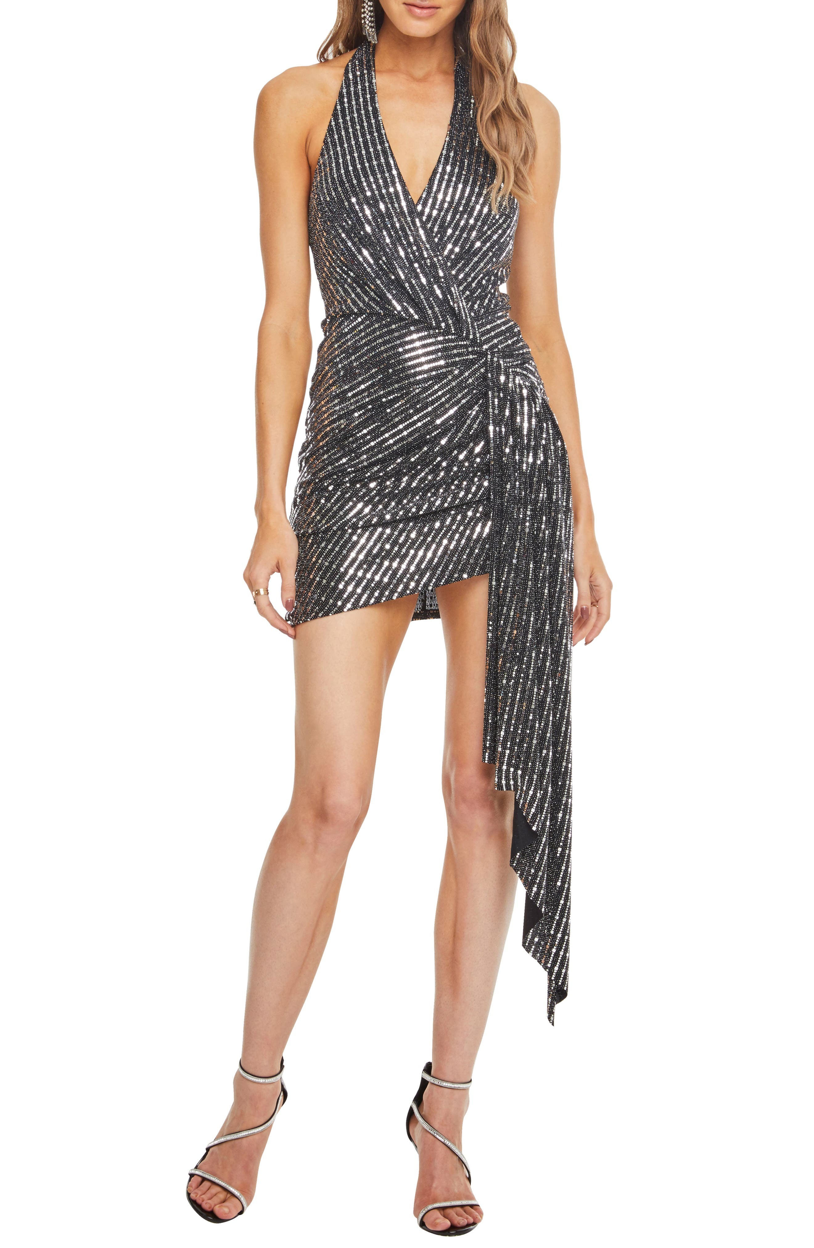 Astr The Label Nightcap Dress, Metallic