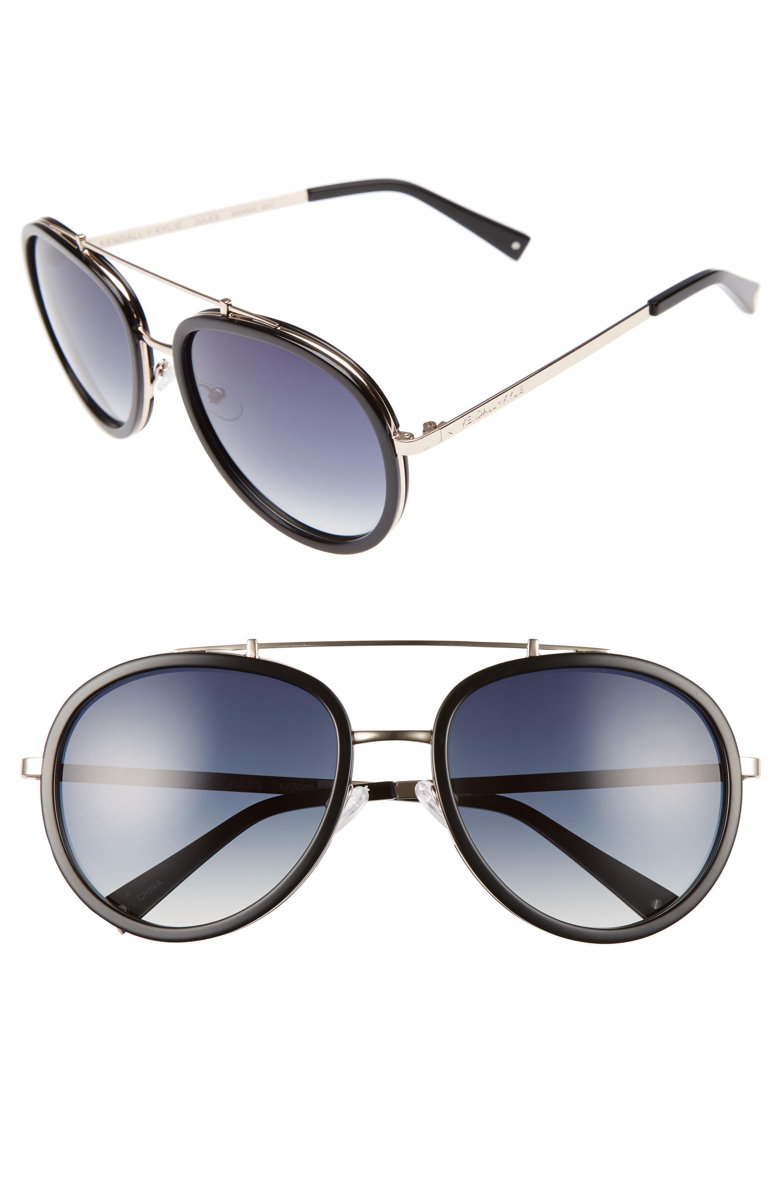 Jules 58mm Aviator Sunglasses,                             Main thumbnail 2, color,
