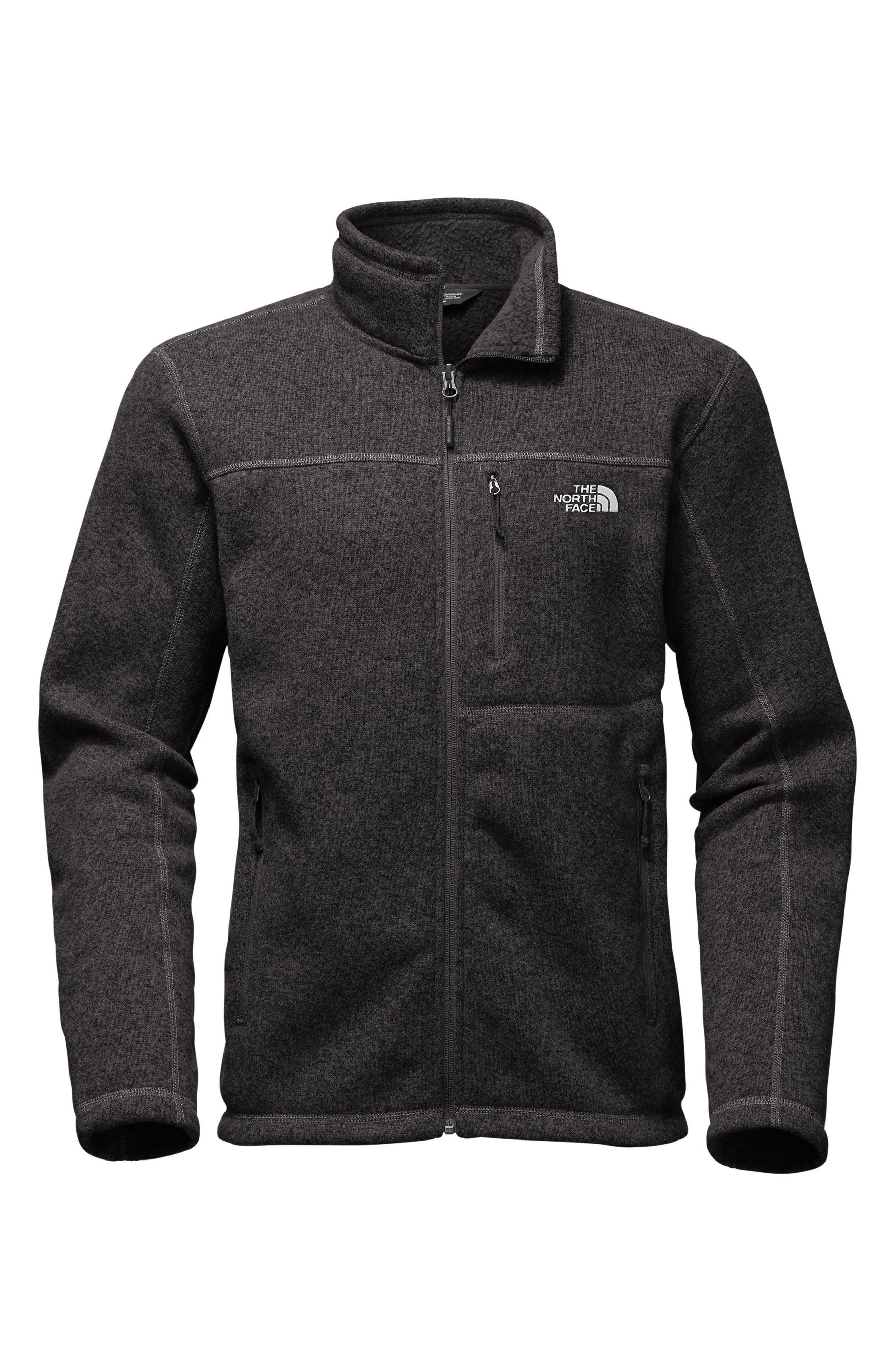'Gordon Lyons' Zip Fleece Jacket,                             Alternate thumbnail 6, color,                             BLACK HEATHER