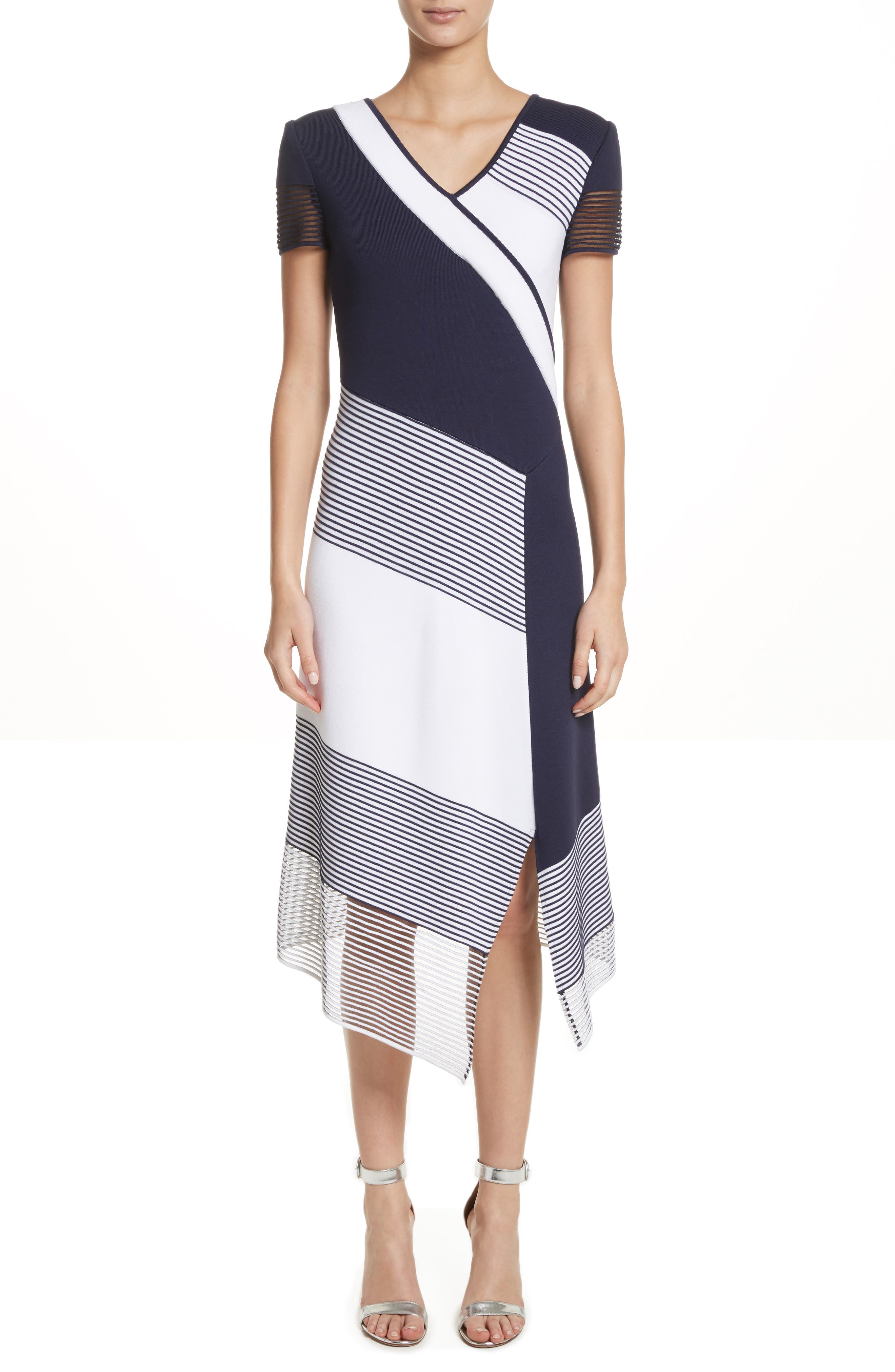 Colorblock Tech Knit Dress,                         Main,                         color, 100