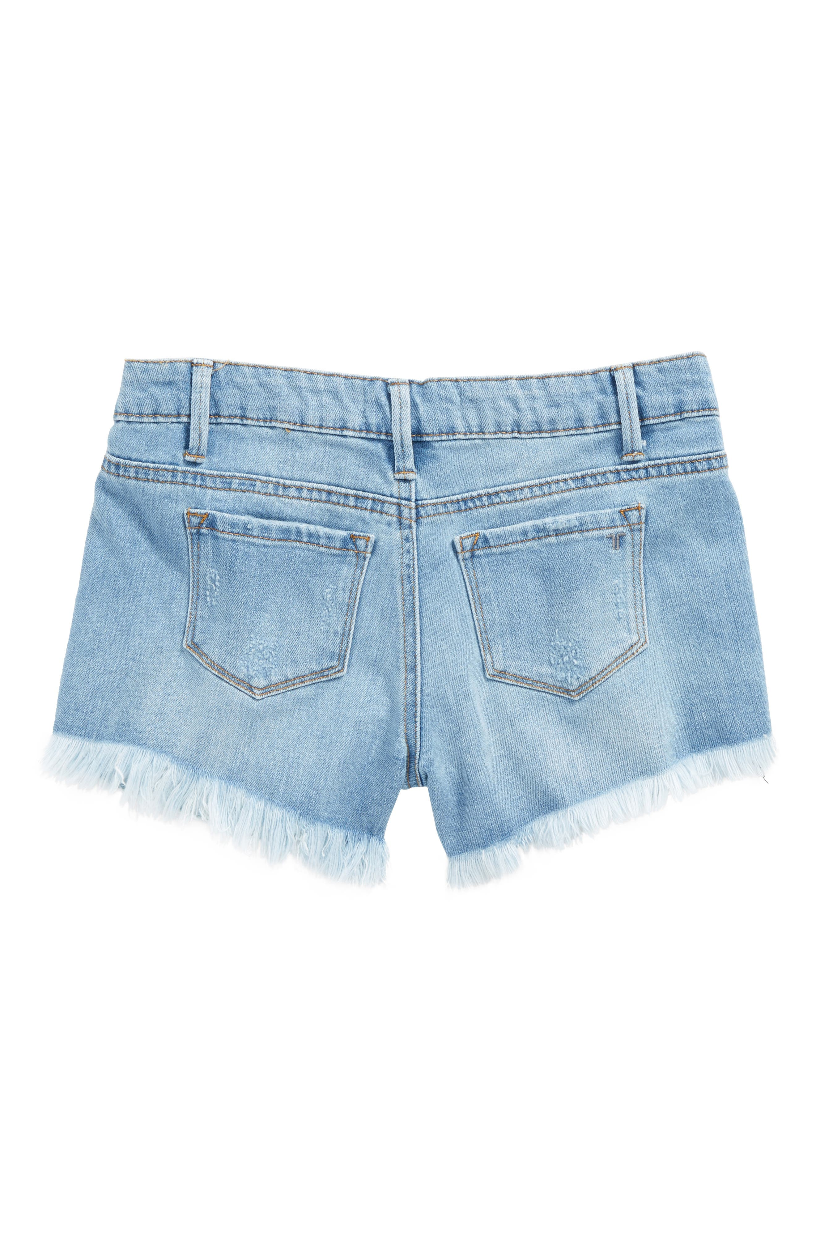 Distressed Cutoff Denim Shorts,                             Alternate thumbnail 2, color,                             400