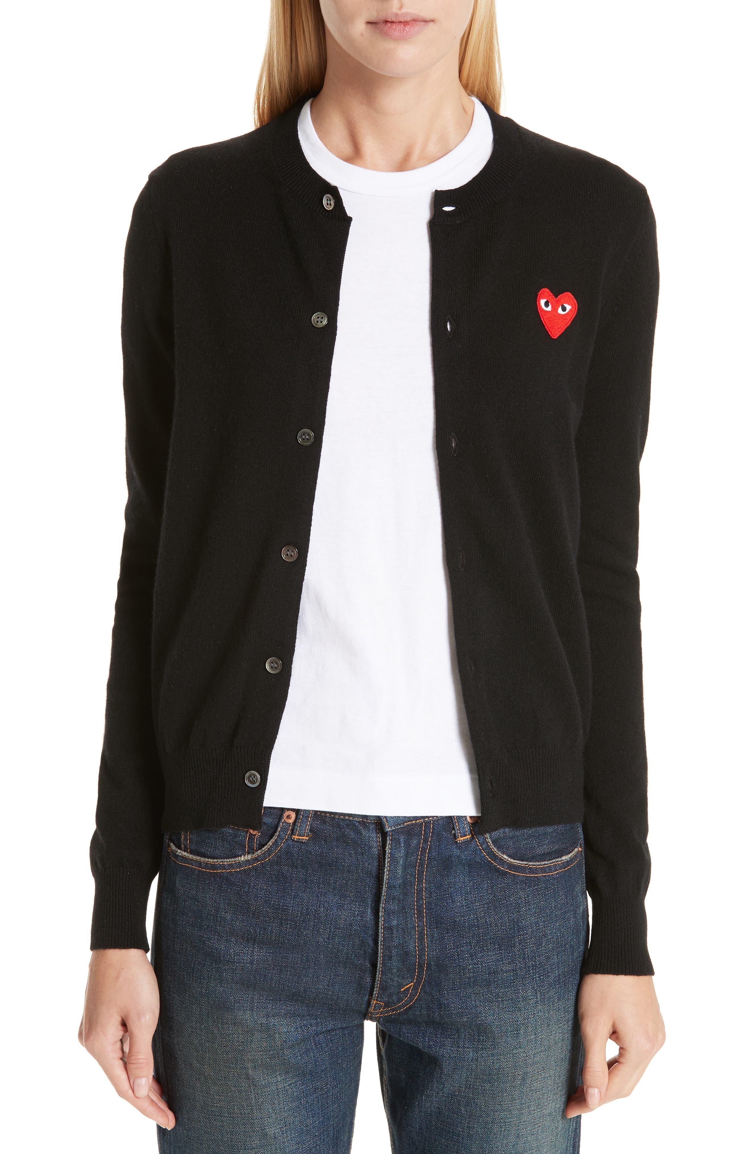 PLAY Wool Cardigan,                         Main,                         color, BLACK