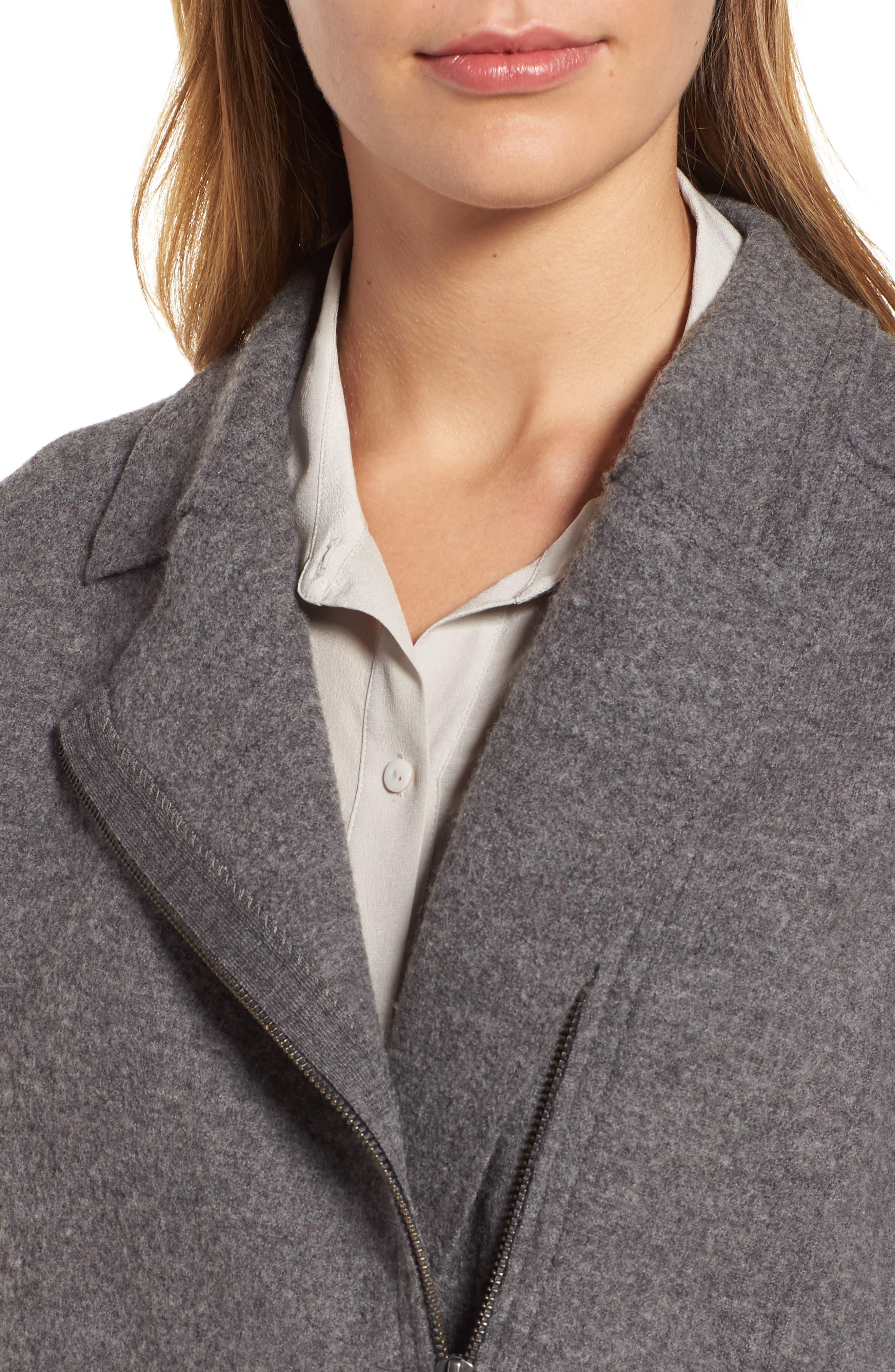 Boiled Wool Moto Jacket,                             Alternate thumbnail 14, color,