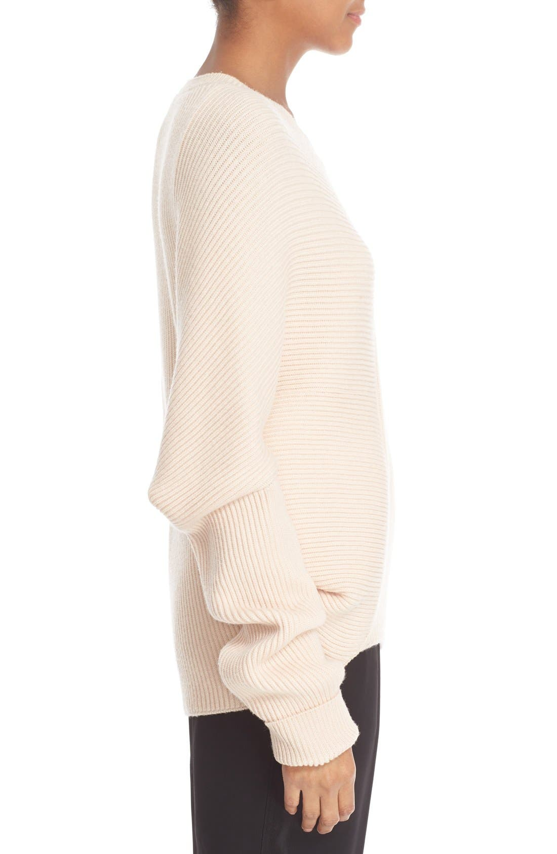Asymmetrical Wool Sweater,                             Alternate thumbnail 5, color,                             101