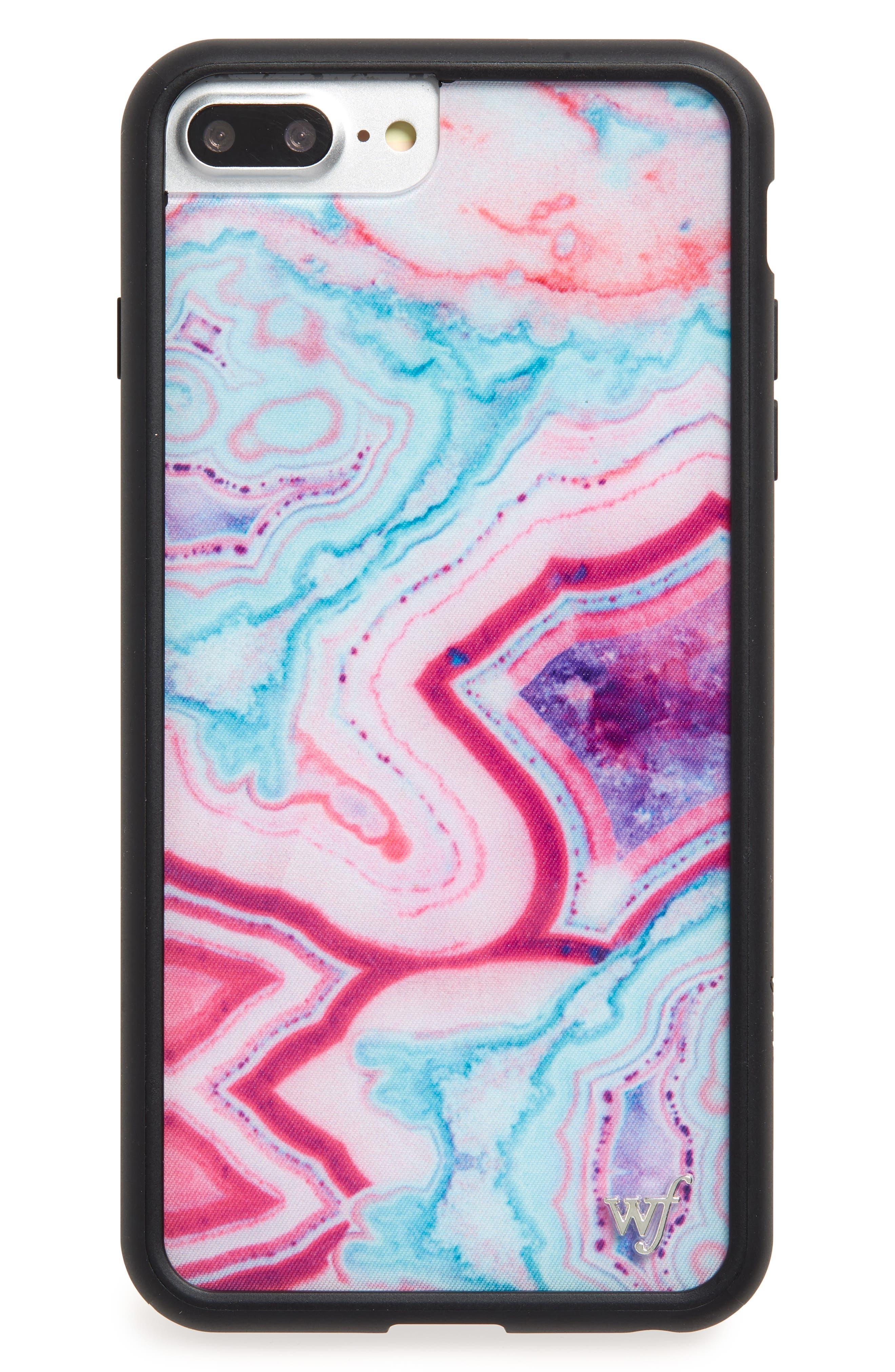 Dream Stone iPhone 6/7/8 Plus Case,                             Main thumbnail 1, color,                             PURPLE MULTI