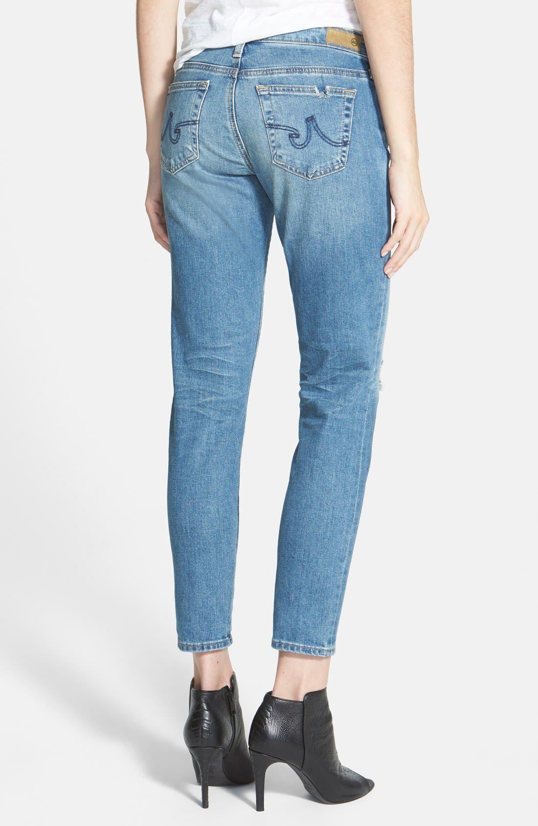 'Stilt' Cigarette Leg Jeans,                             Alternate thumbnail 3, color,                             427