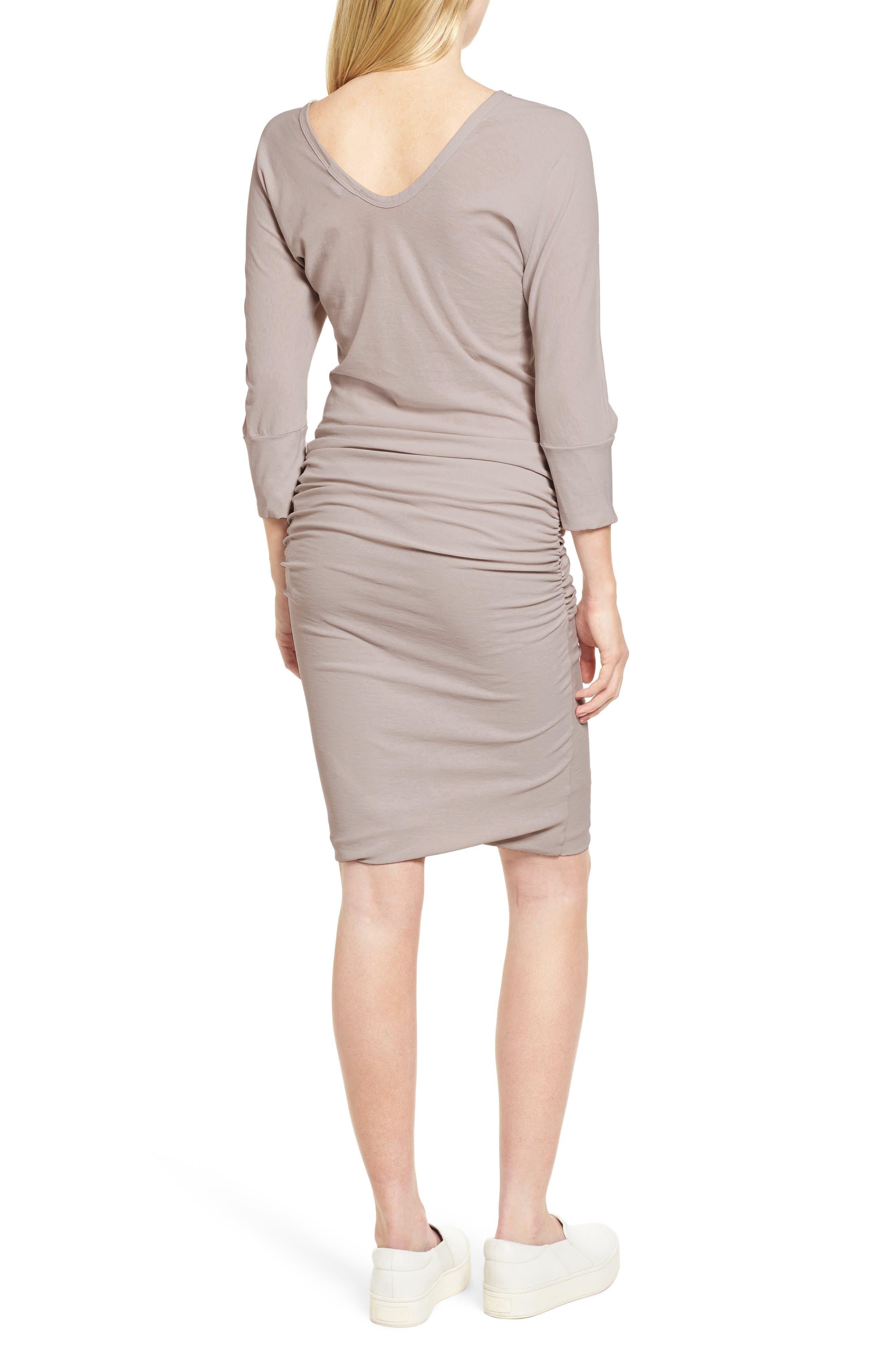 Shirred Cotton Dress,                             Alternate thumbnail 2, color,                             085