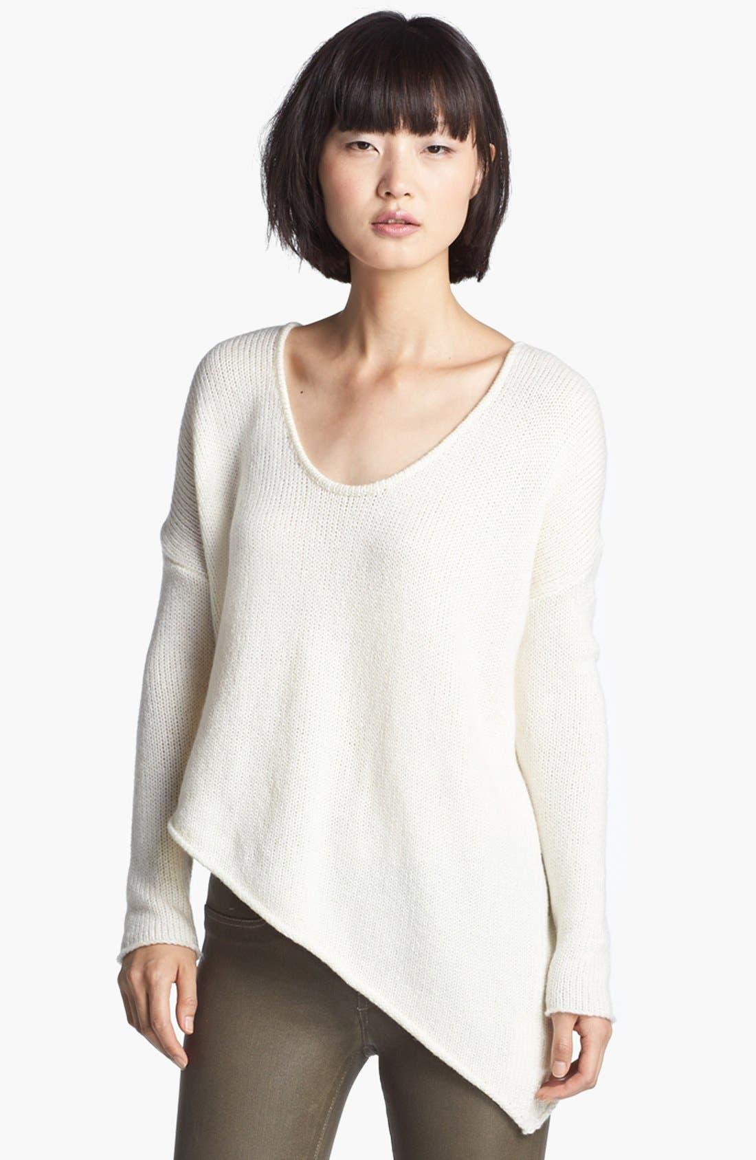 HELMUT LANG HELMUT Helmut Lang Asymmetrical Hem Sweater, Main, color, 101