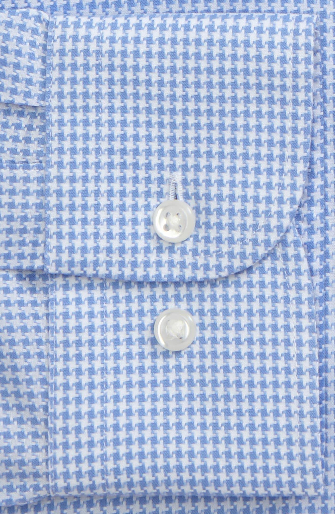 Smartcare<sup>™</sup> Trim Fit Houndstrooth Dress Shirt,                             Alternate thumbnail 2, color,
