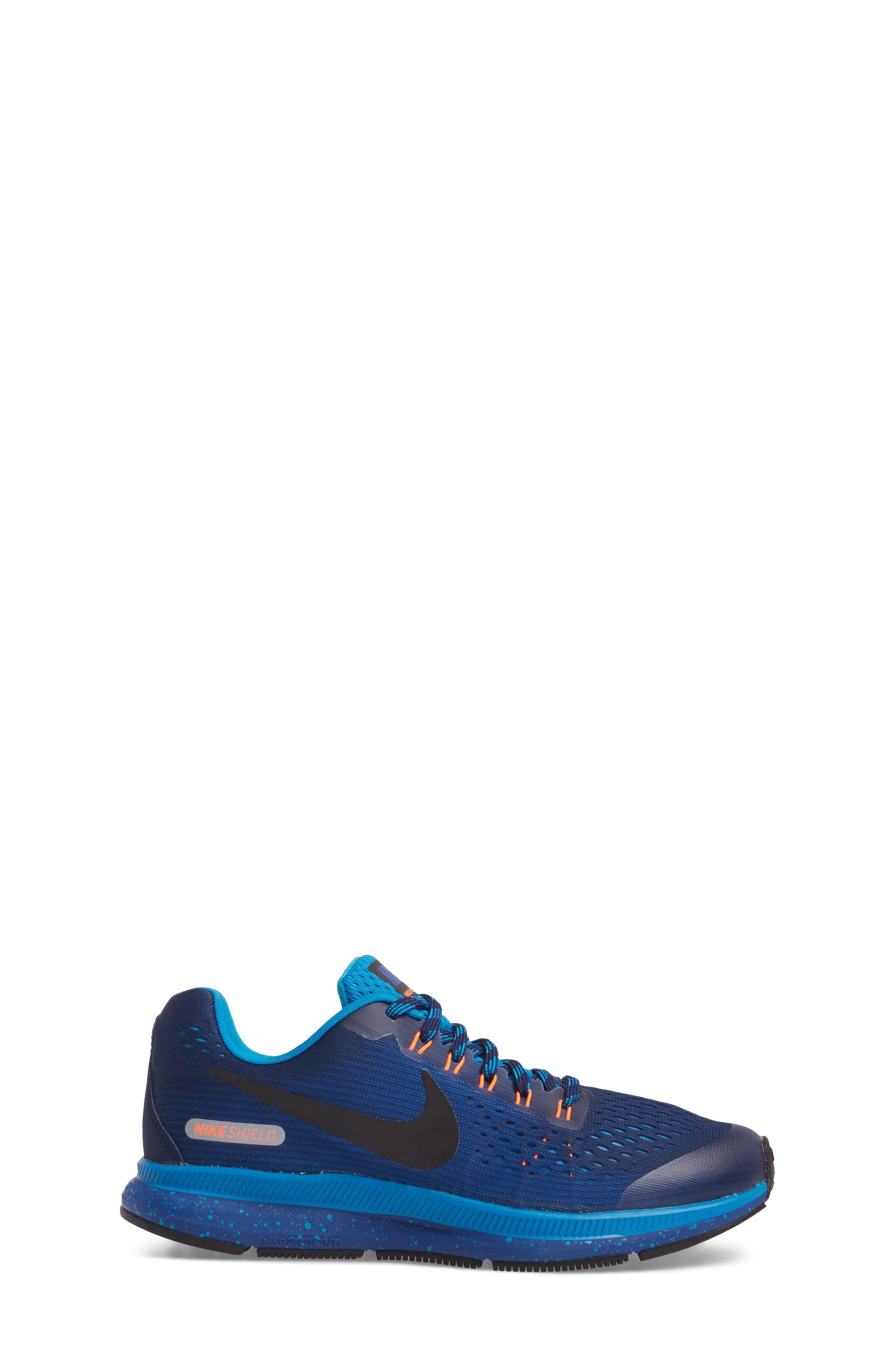Zoom Pegasus 34 Water Repellent Shield Sneaker,                             Alternate thumbnail 6, color,