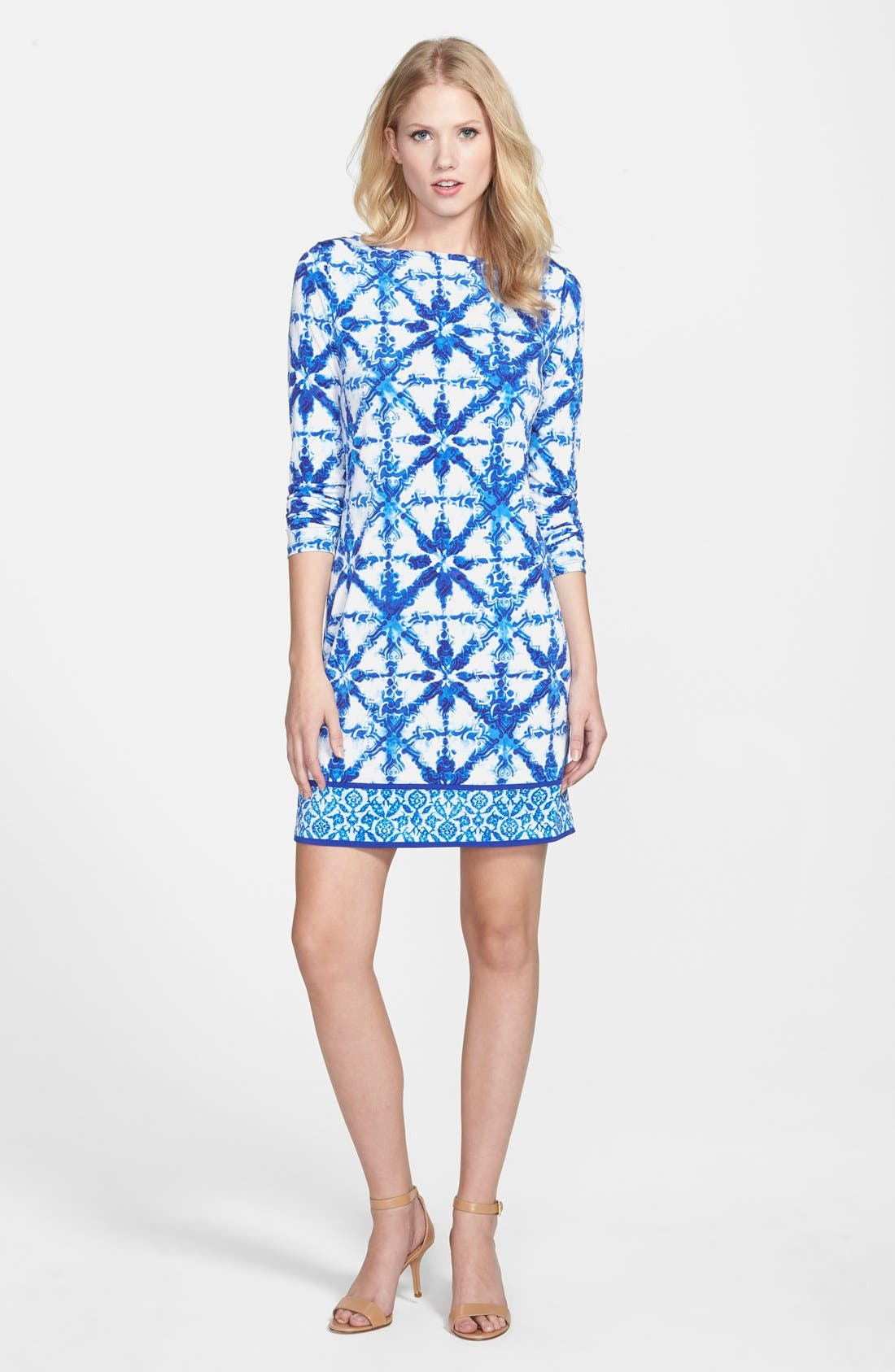 'Glazed Tile' Shift Dress,                             Main thumbnail 1, color,                             403