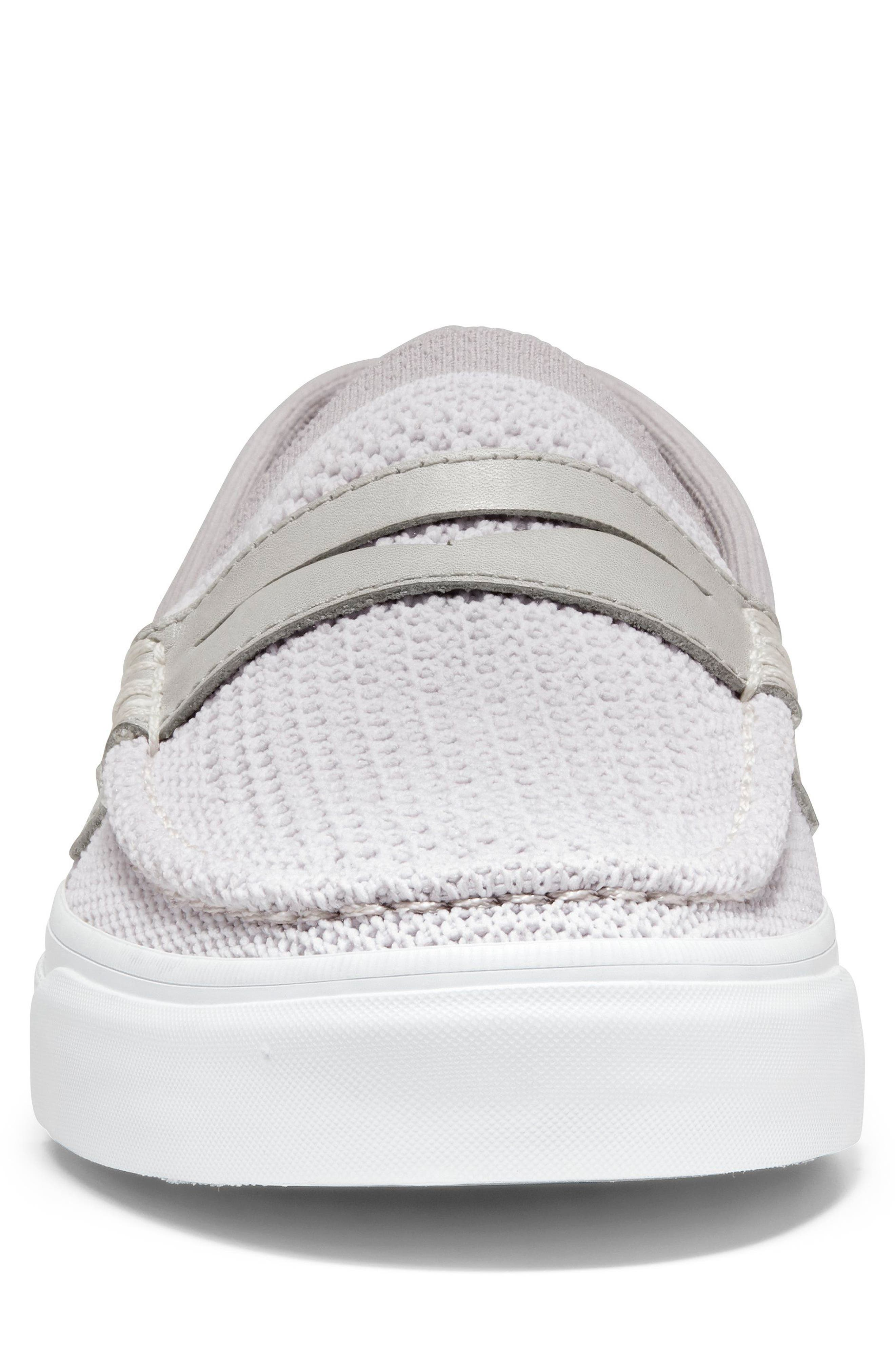 Pinch Stitch LX Stitchlite<sup>™</sup> Penny Loafer,                             Alternate thumbnail 4, color,                             VAPOR GREY /OPTIC WHITE