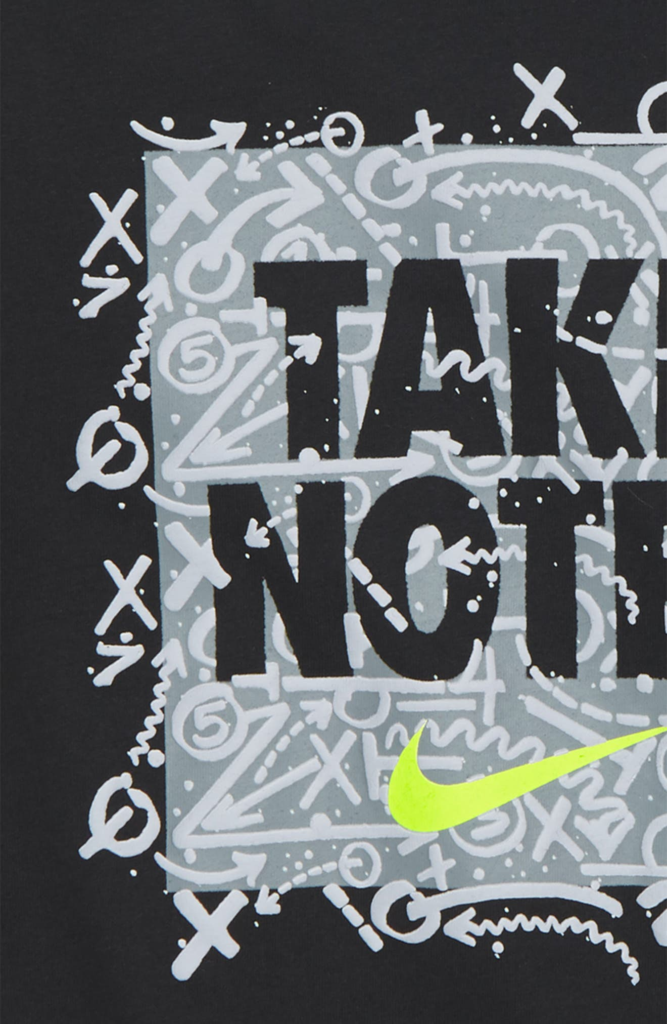 NIKE,                             Take Notes Graphic T-Shirt,                             Alternate thumbnail 2, color,                             004
