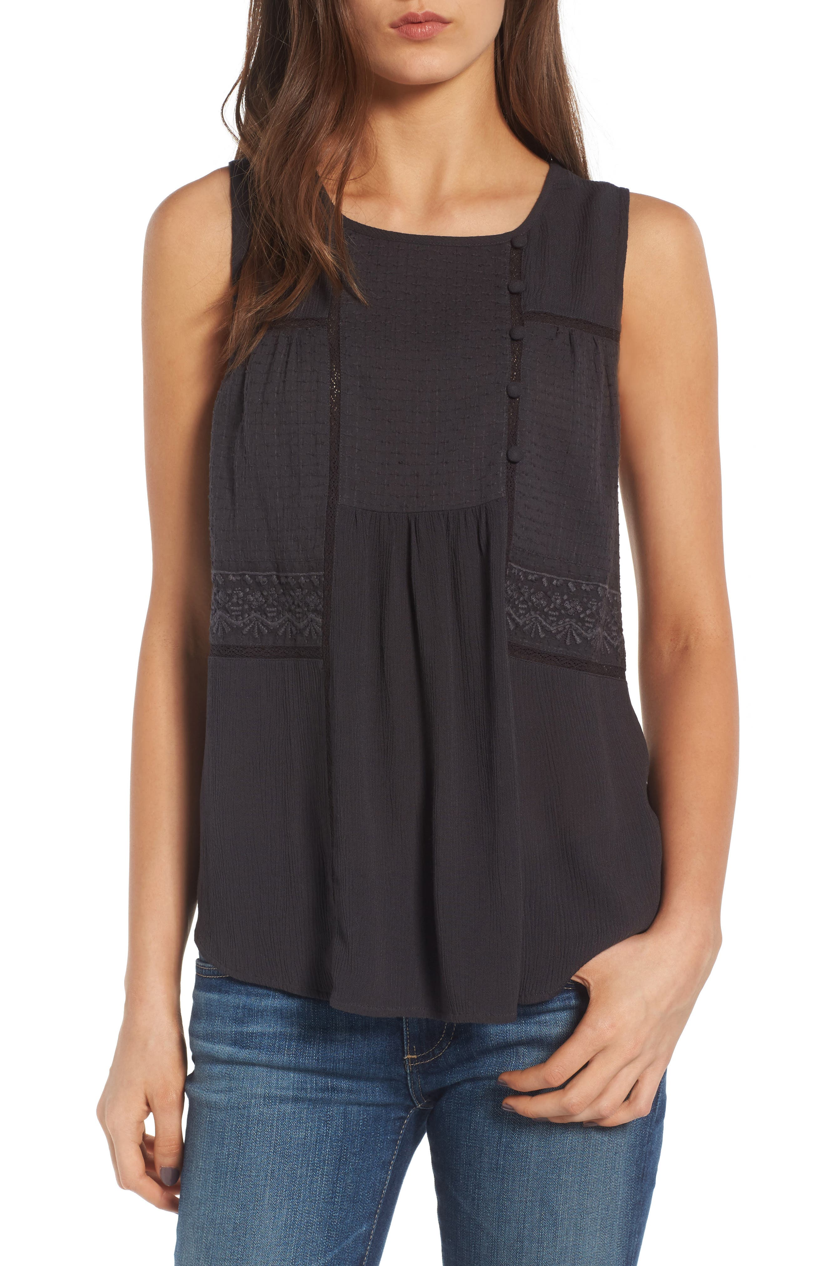 Crinkle Woven Top,                         Main,                         color, 020