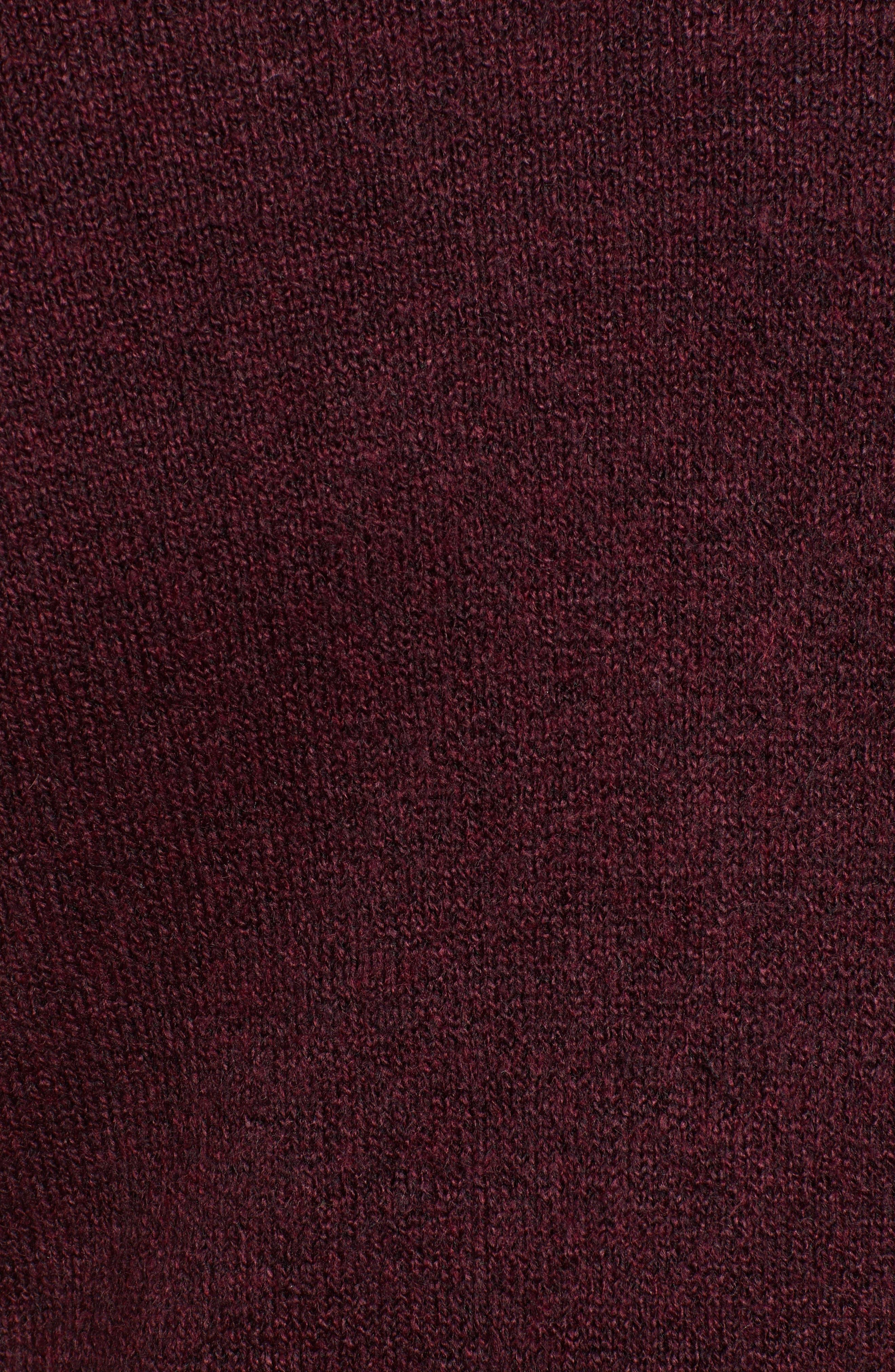 Pocket Sweater Coat,                             Alternate thumbnail 5, color,                             BURGUNDY TO MATCH DRESS