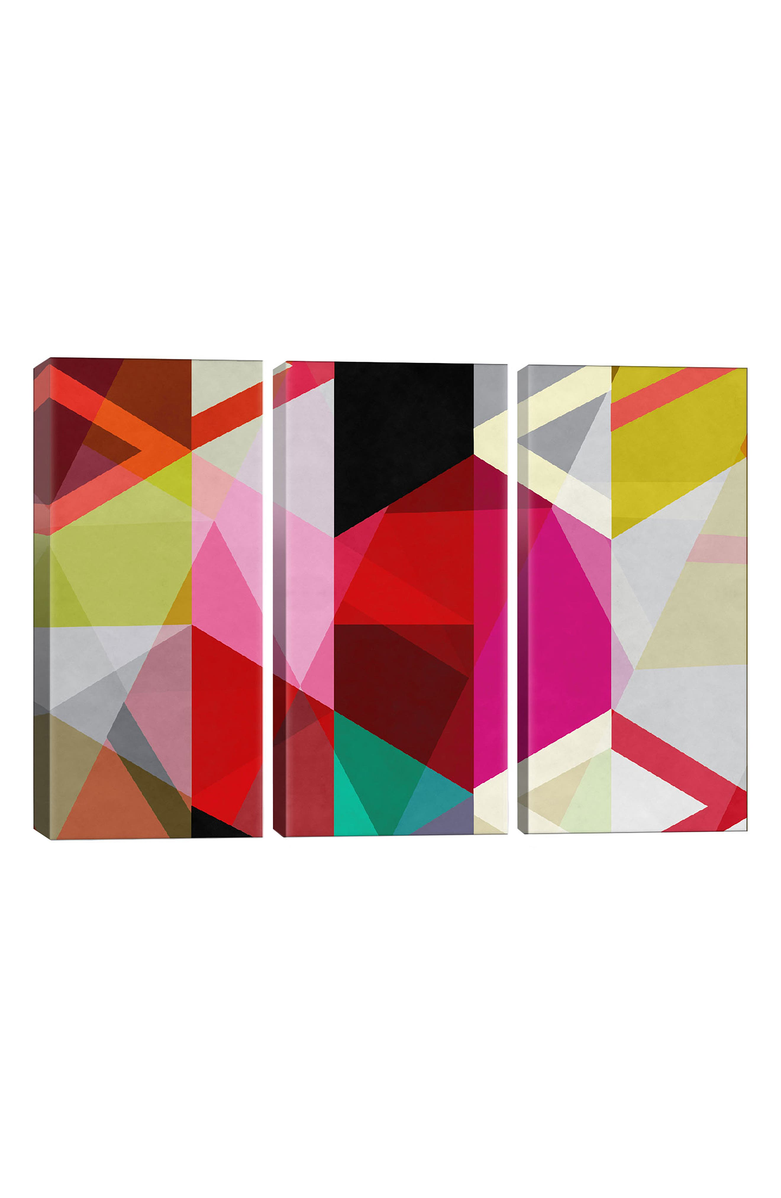 ICANVAS,                             Modern Art Giclée Print Canvas Triptych,                             Main thumbnail 1, color,                             WHITE