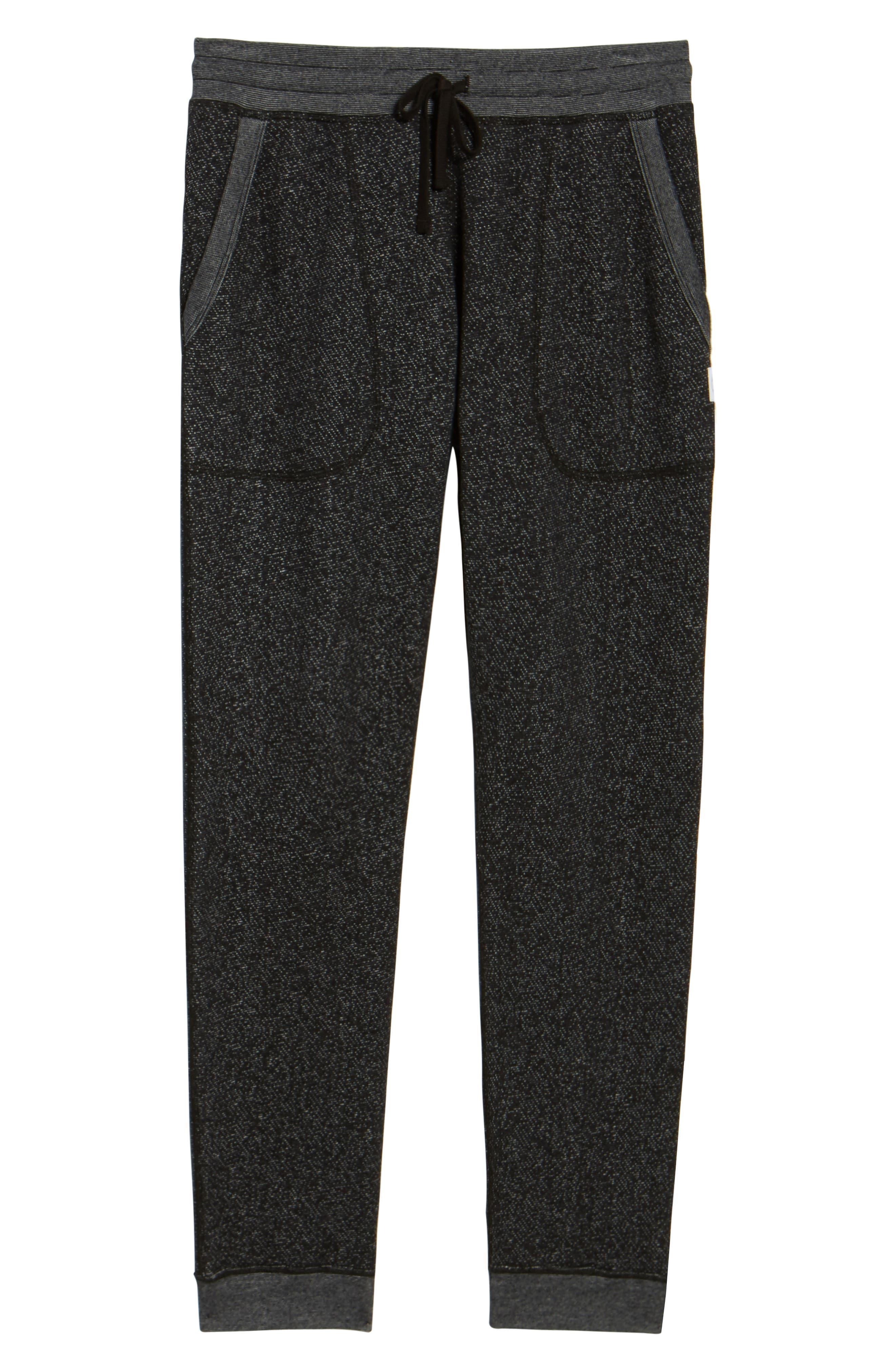 Tiger Slim Jogger Sweatpants,                             Alternate thumbnail 6, color,                             BLACK