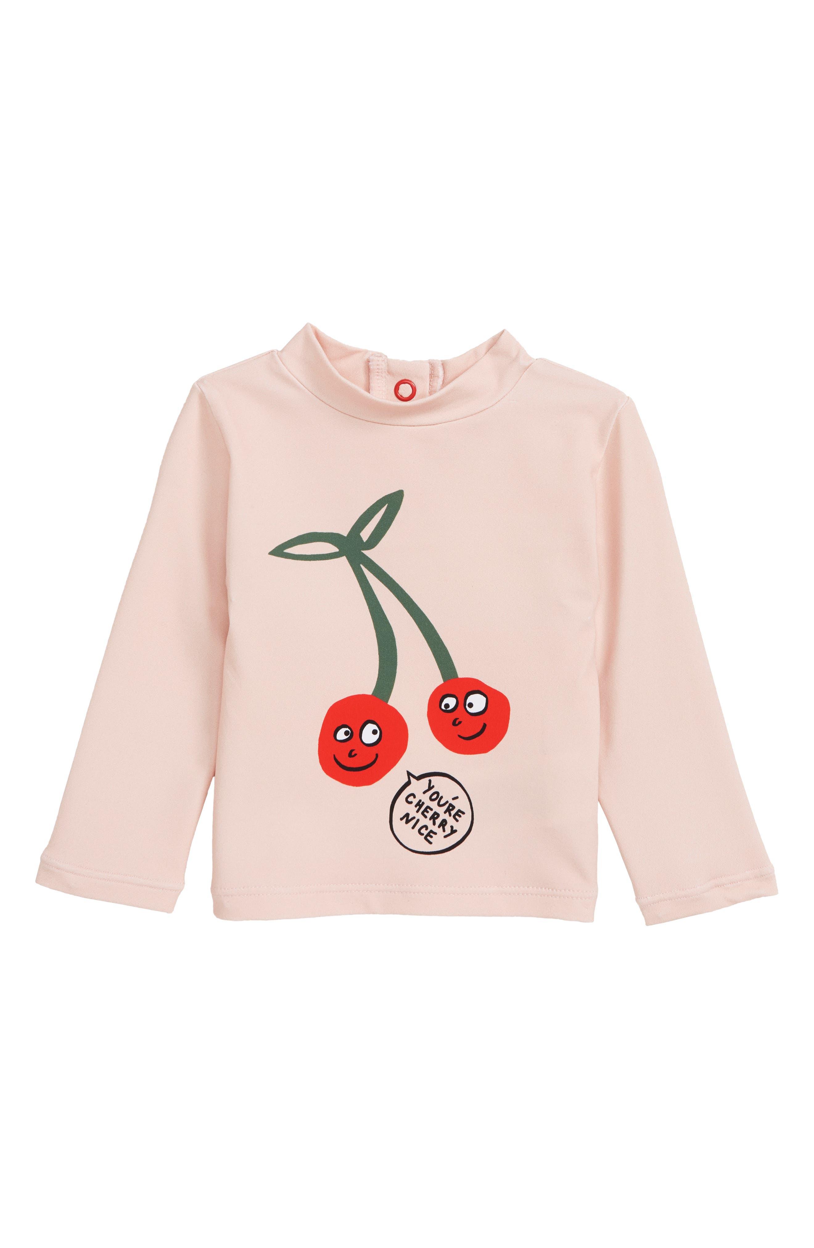 Stella McCartney Cherry Swim Top,                             Main thumbnail 1, color,                             5769 PINK