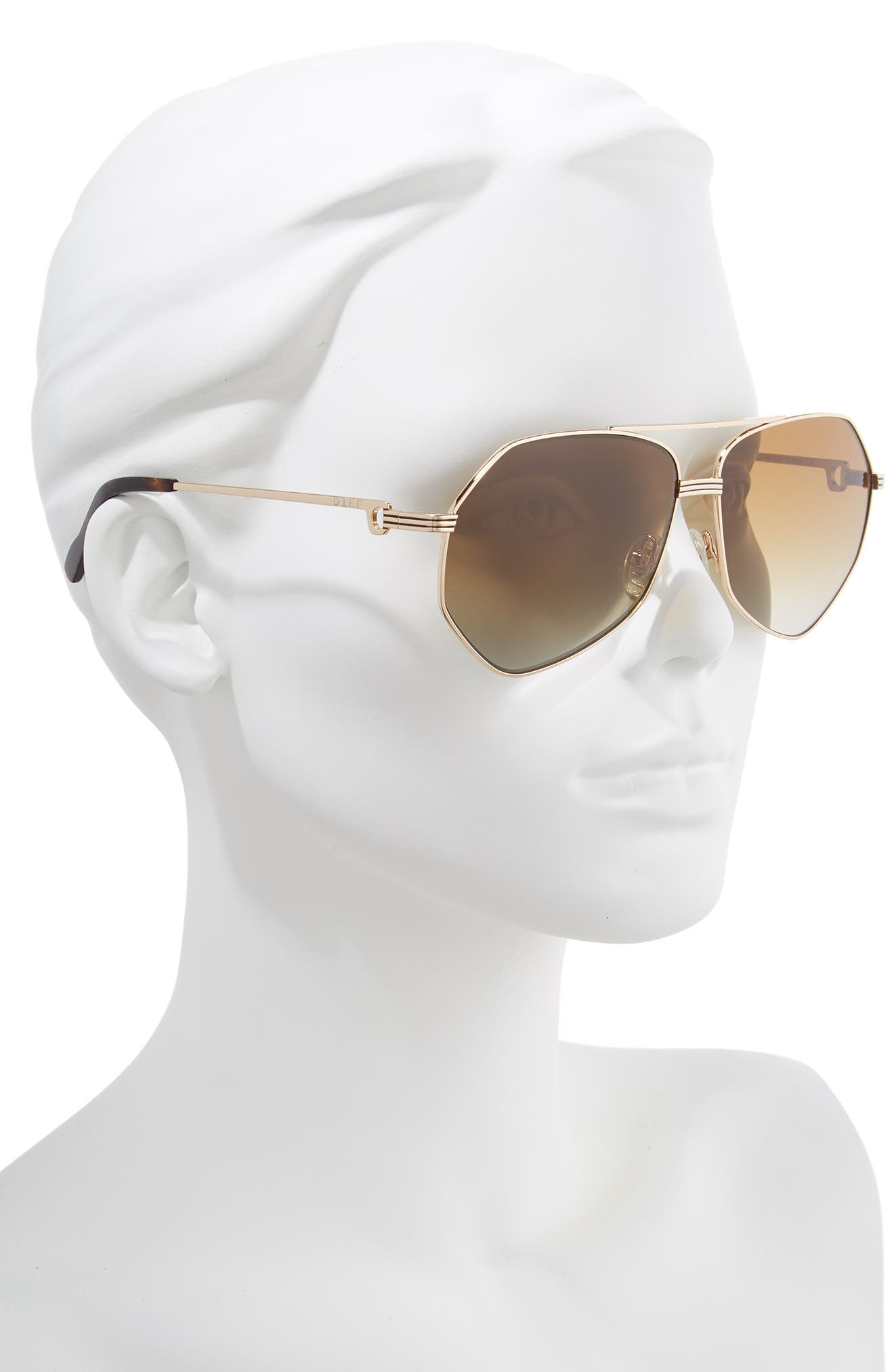 Sydney Sunglasses,                             Alternate thumbnail 2, color,                             GOLD/ BROWN