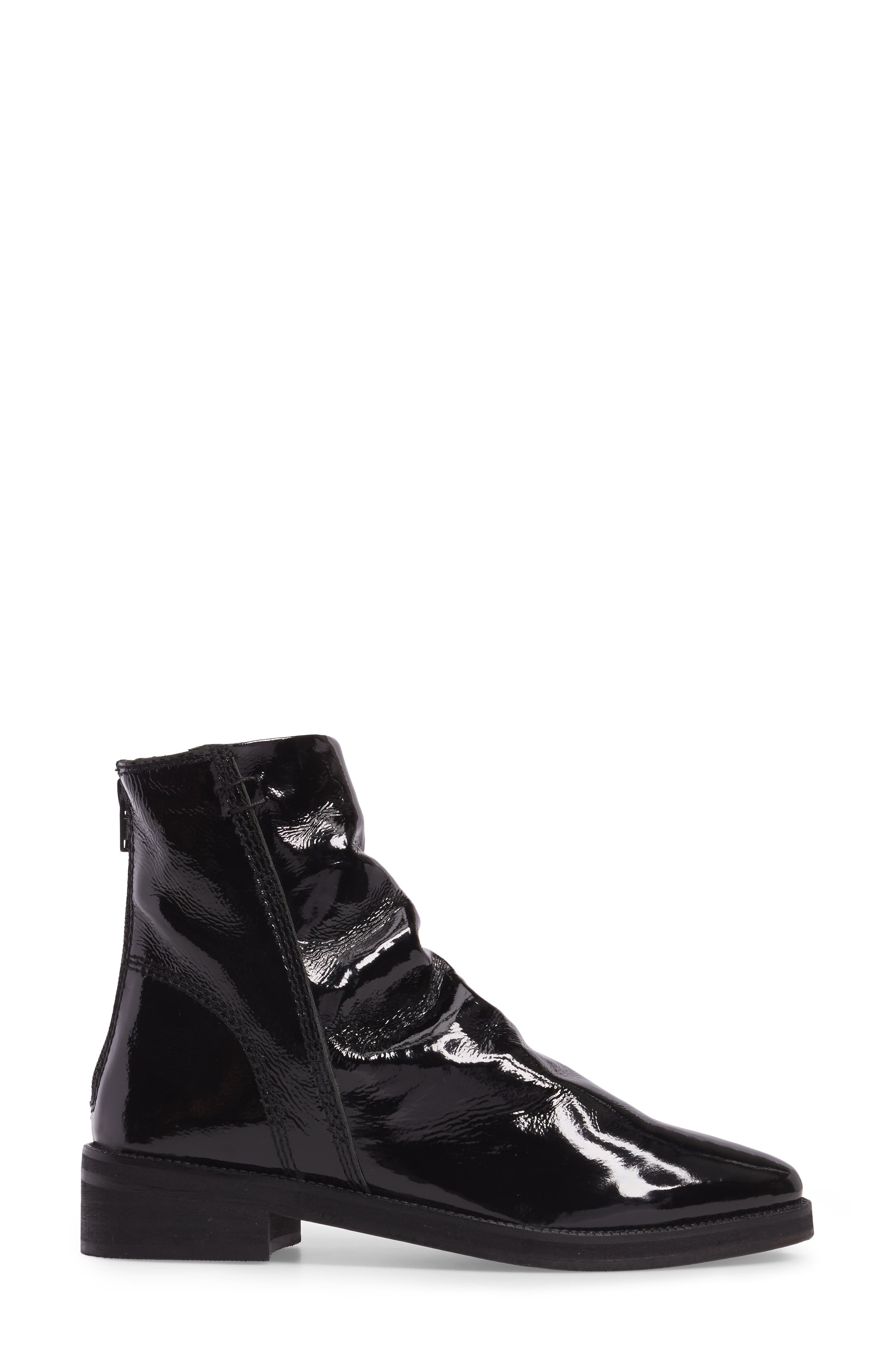 FREE PEOPLE,                             Amarone Slightly Slouchy Bootie,                             Alternate thumbnail 3, color,                             001