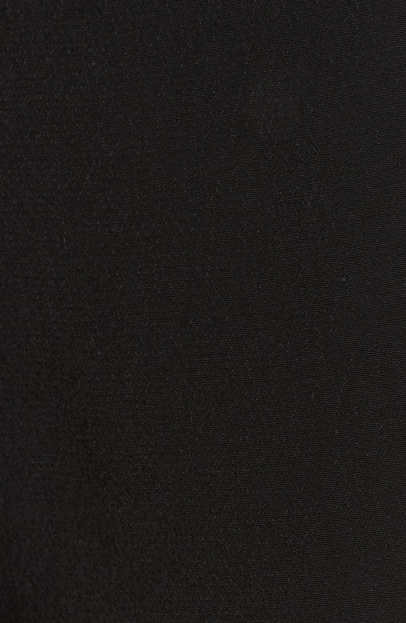 Ruffle Trim Shorts,                             Alternate thumbnail 6, color,                             001