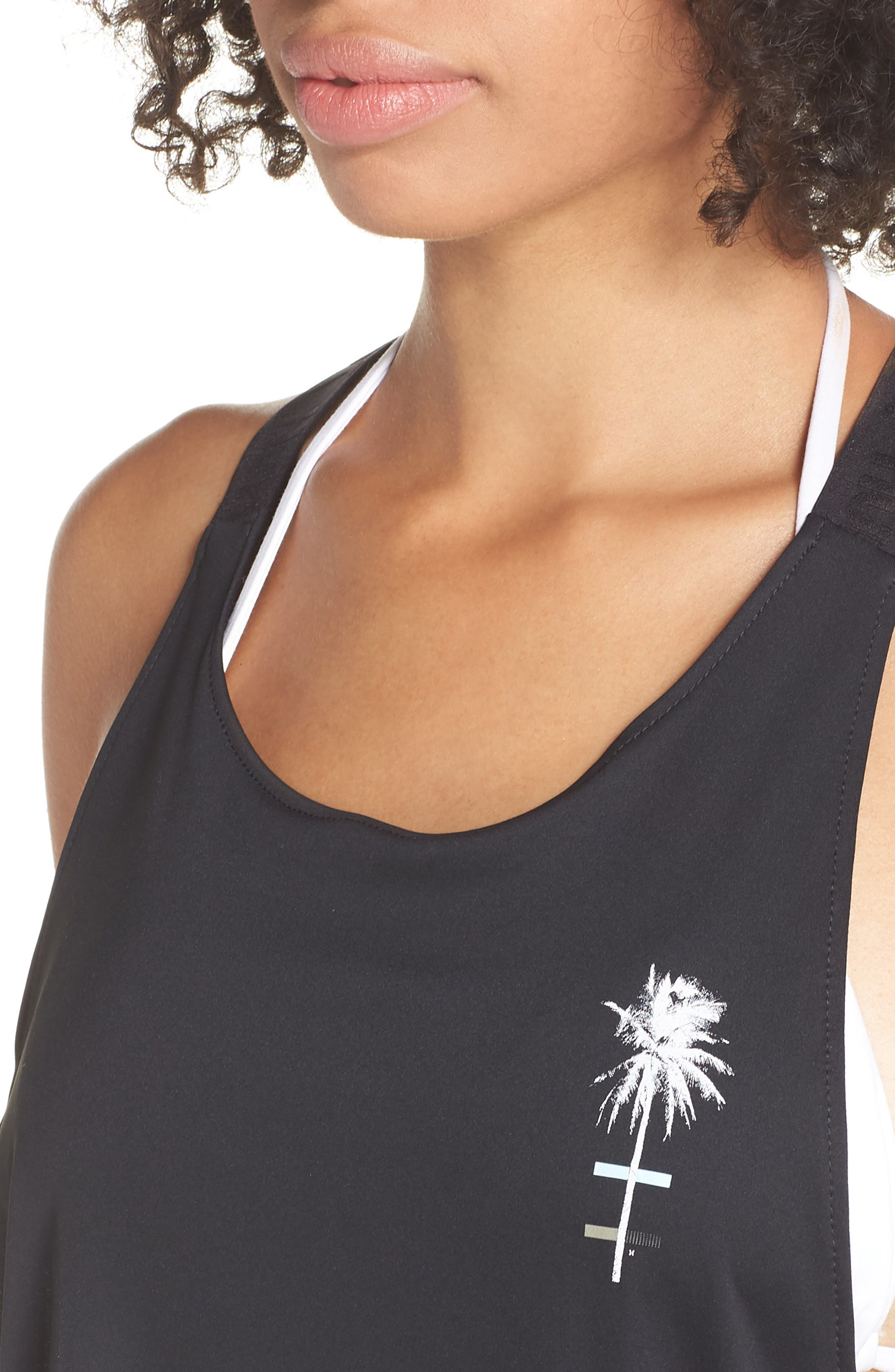 Quick Dry Mesh Cover-Up Tank,                             Alternate thumbnail 4, color,                             010