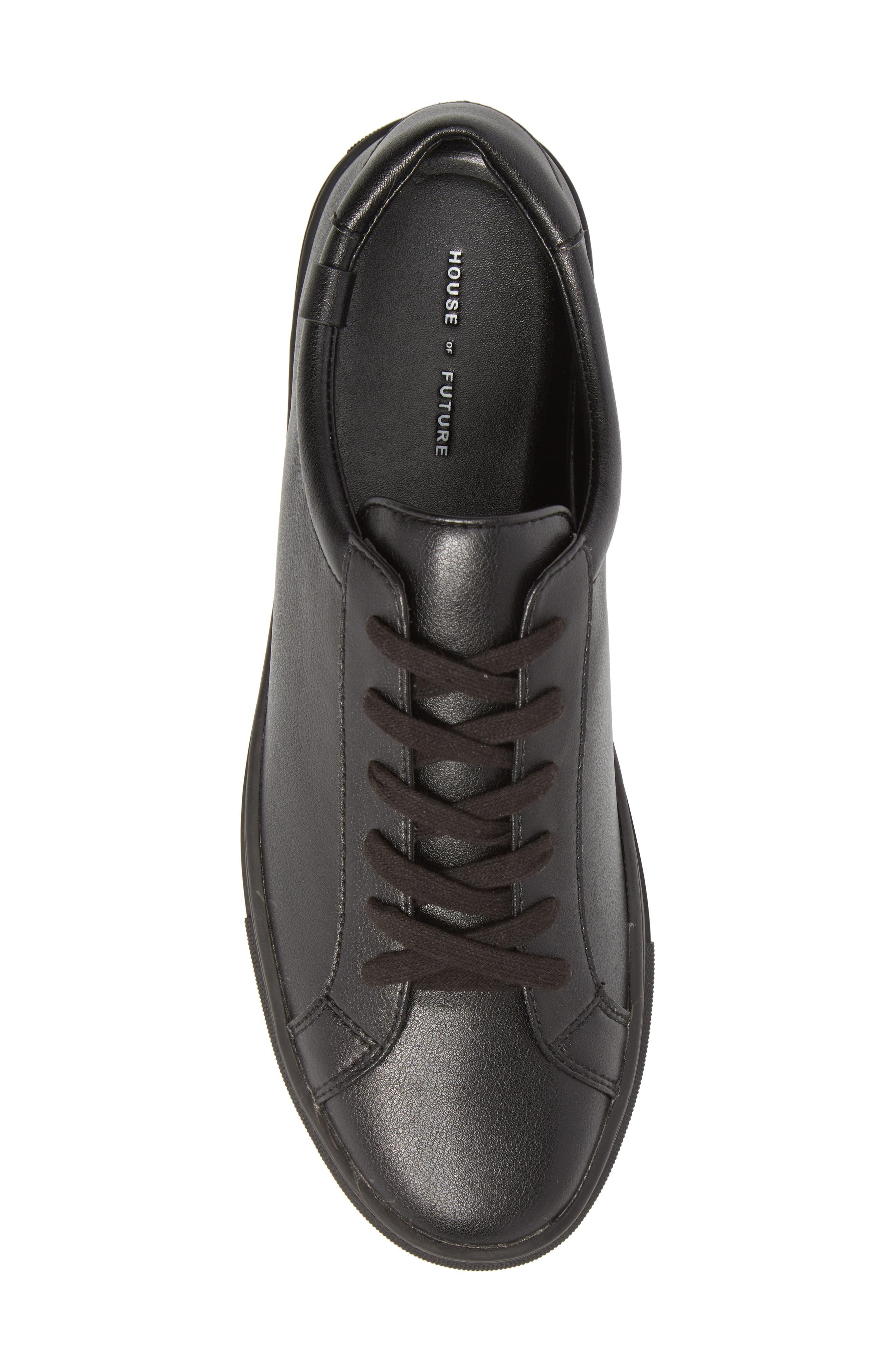 Original Low Top Sneaker,                             Alternate thumbnail 5, color,                             BLACK / BLACK