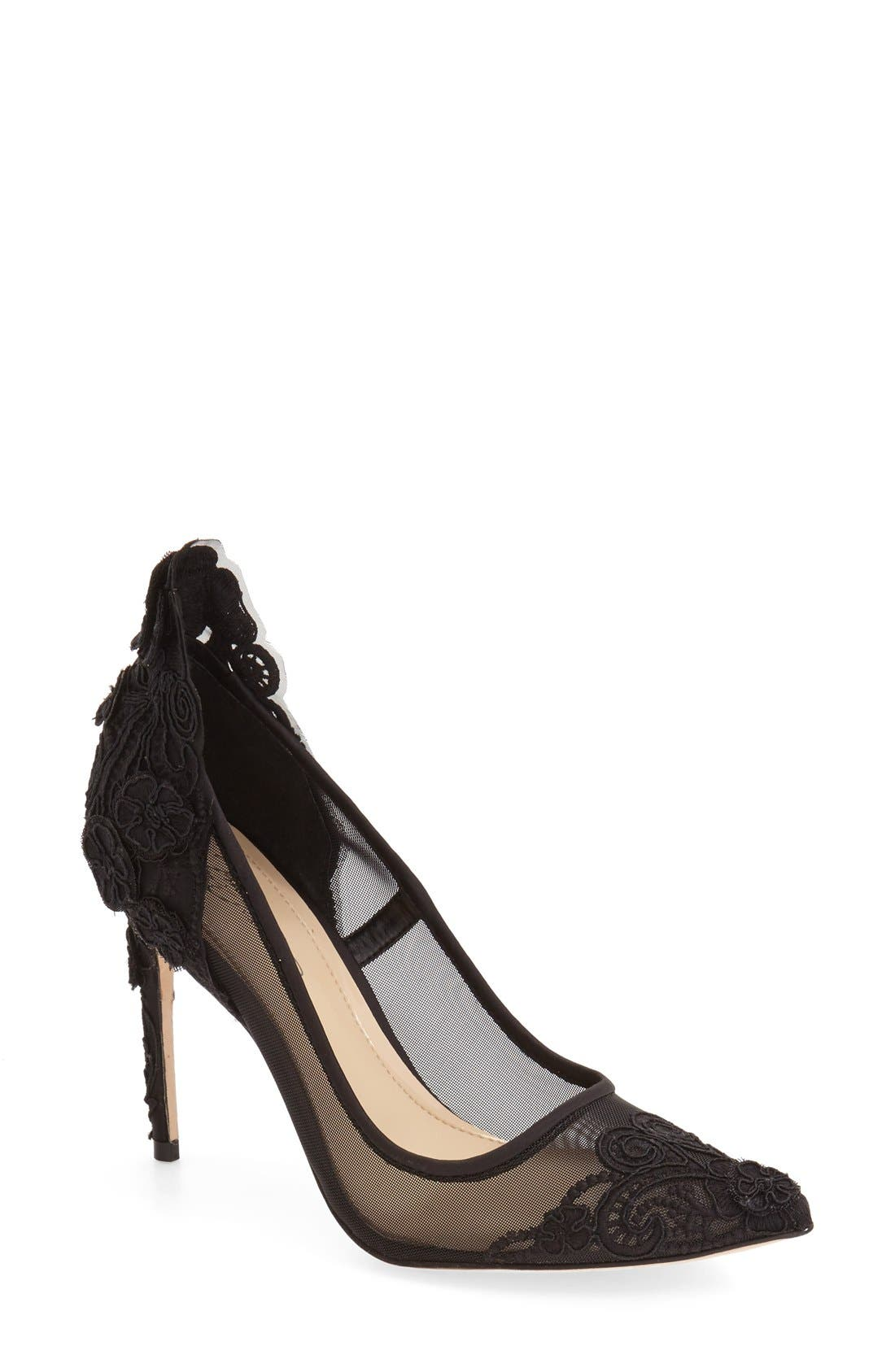 'Ophelia' Pointy Toe Pump, Main, color, 001