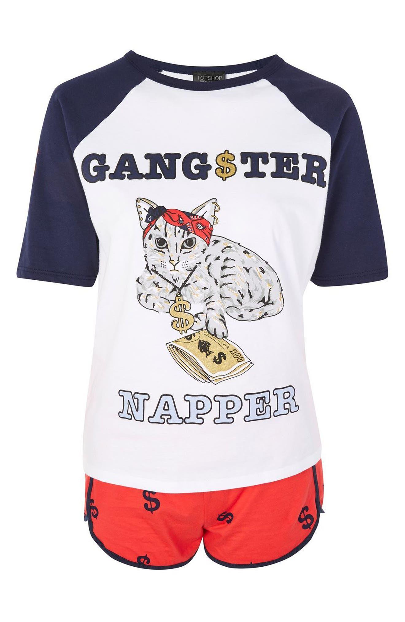 Gangster Napper Pajamas,                             Alternate thumbnail 3, color,                             410