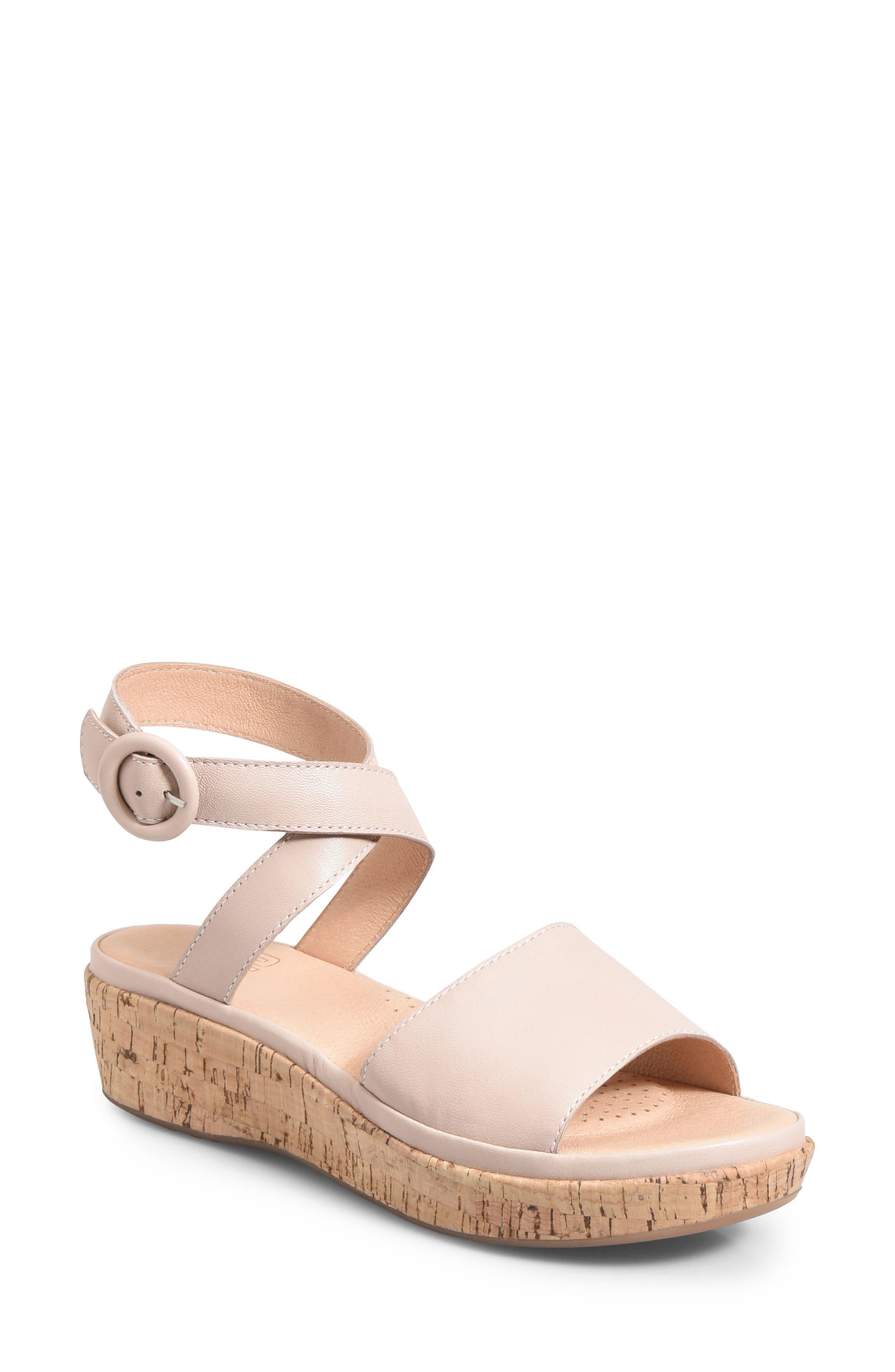 Ono Dreamy Platform Wedge Sandal, Pink