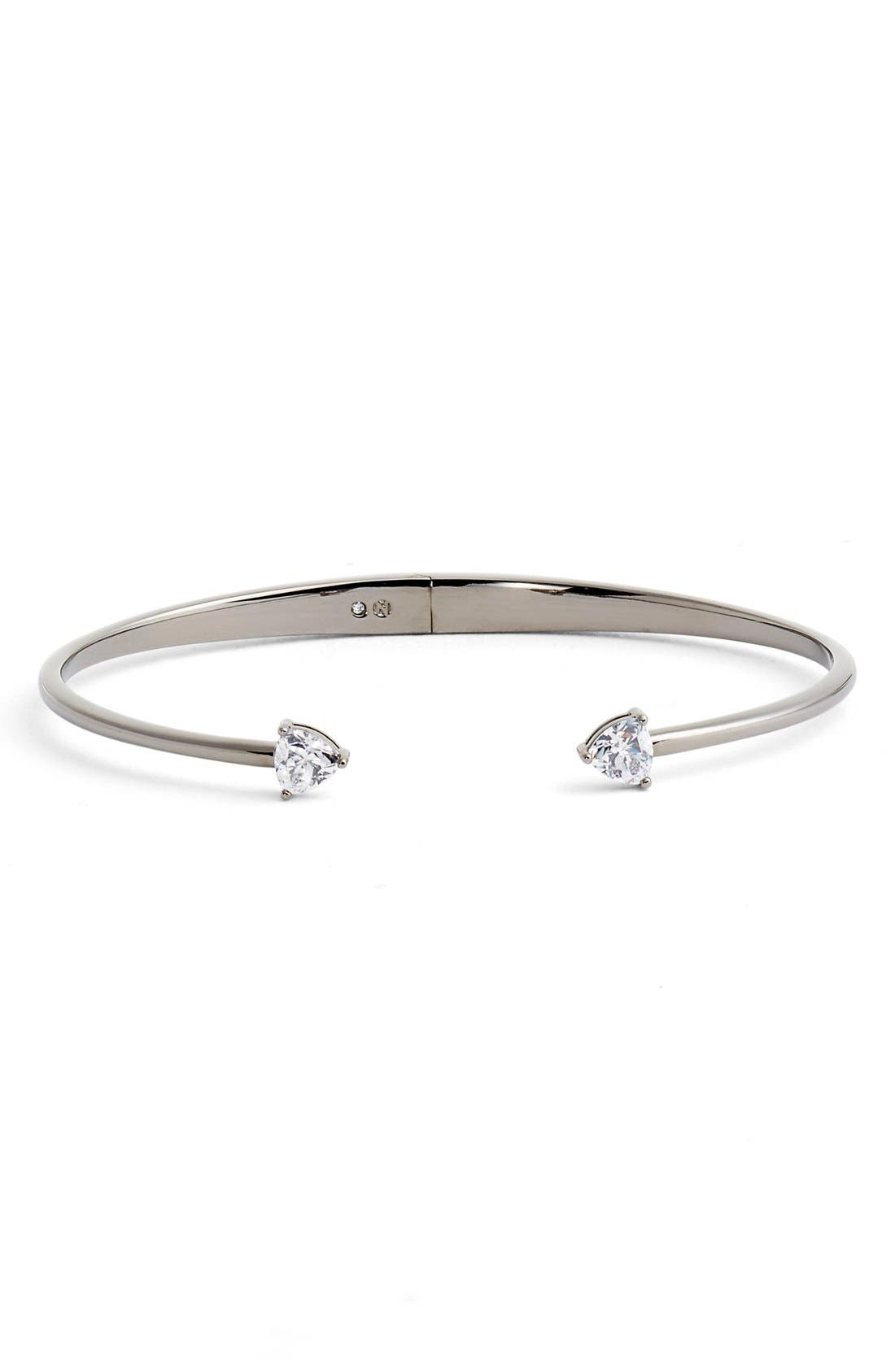 Arrow Cubic Zirconia Station Cuff,                         Main,                         color, 001